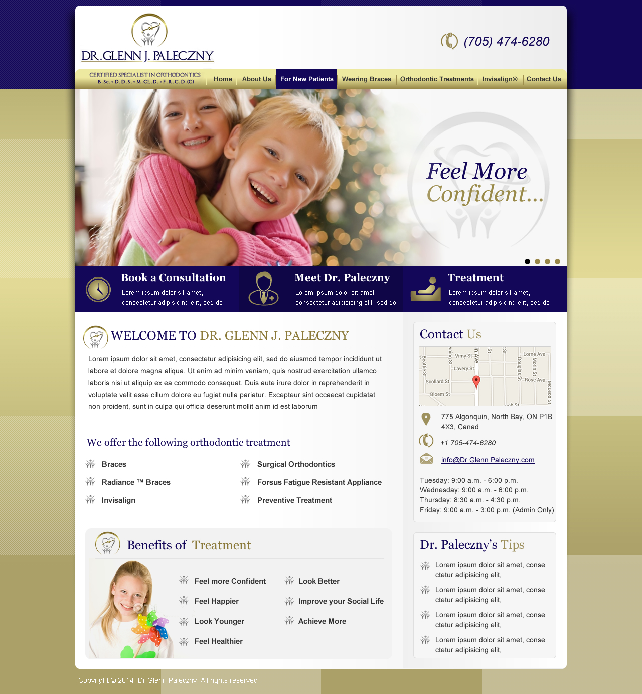 website for modern orthodontic office - Medical