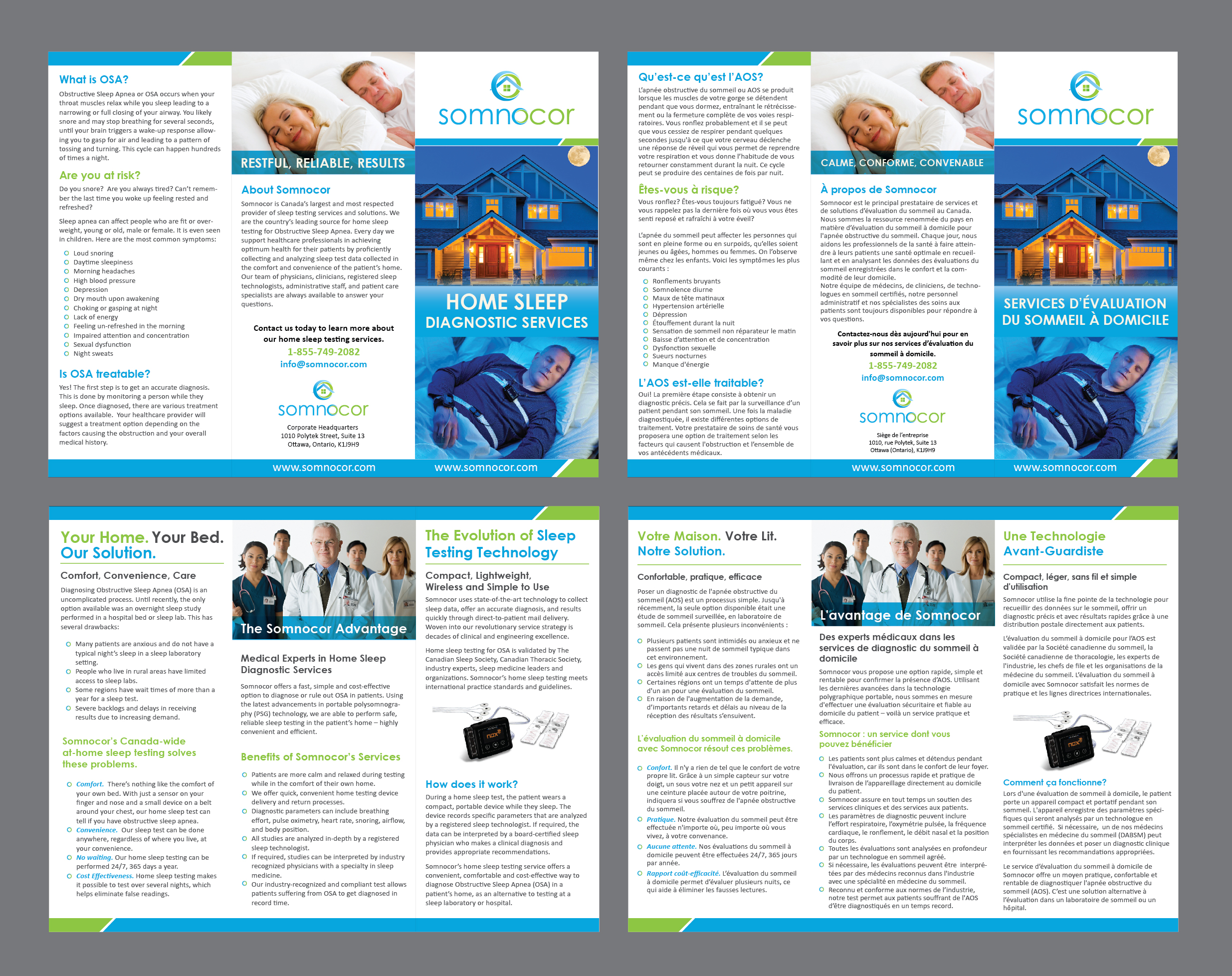 Brochure for Sleep Testing Services  - Medical