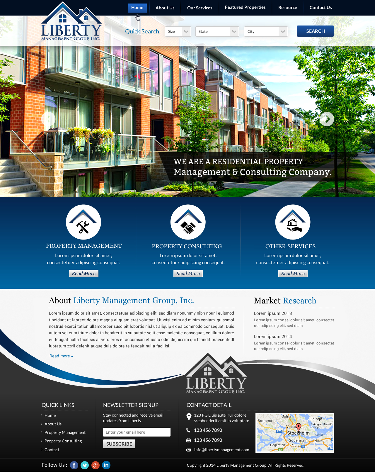 Website for a residential property management & consulting company - Consulting