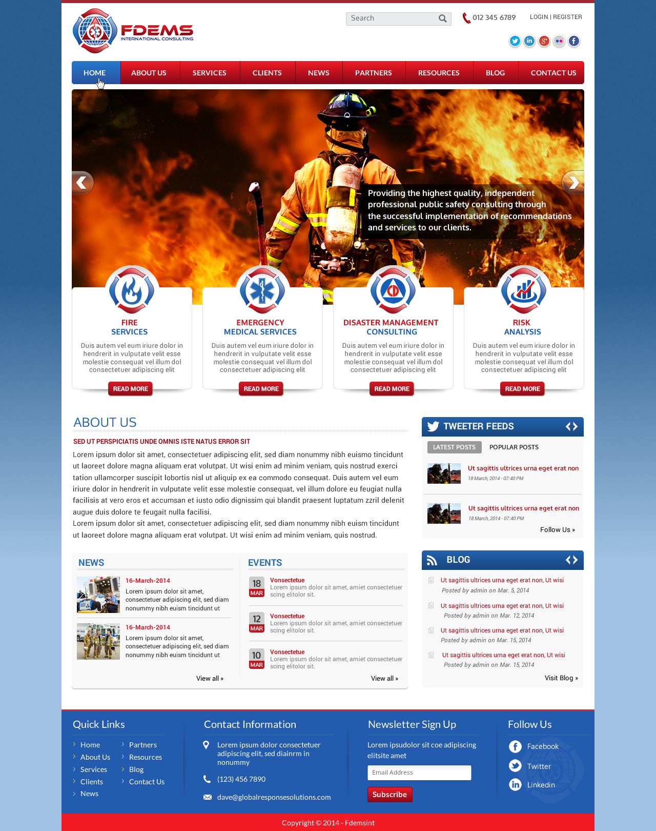 Website design for a Public Safety Consulting firm. - Consulting