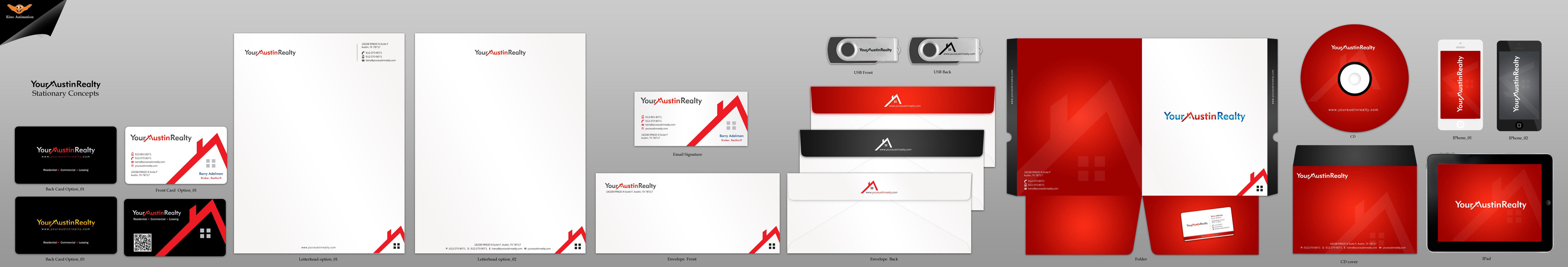 Biz Card & Stationery for Austin TX Real Estate Brokerage - Real Estate