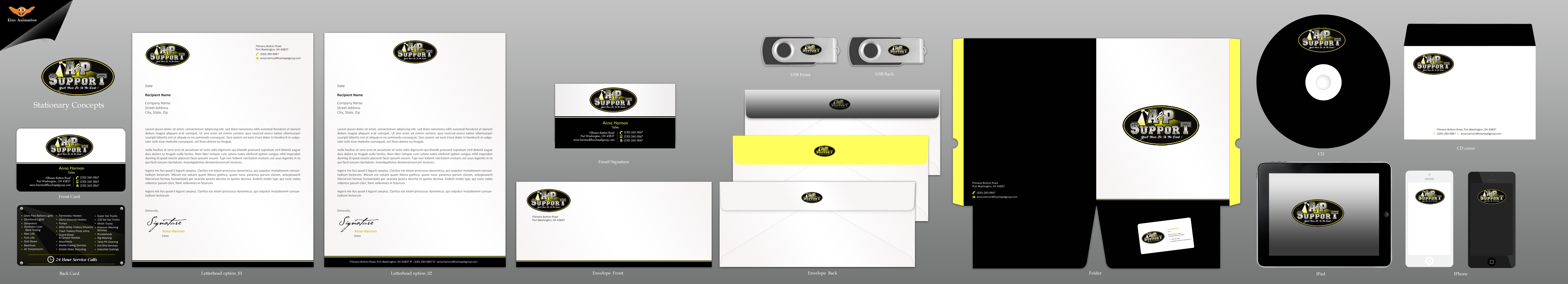 Business Card design for an Oilfield Service Co - Energy