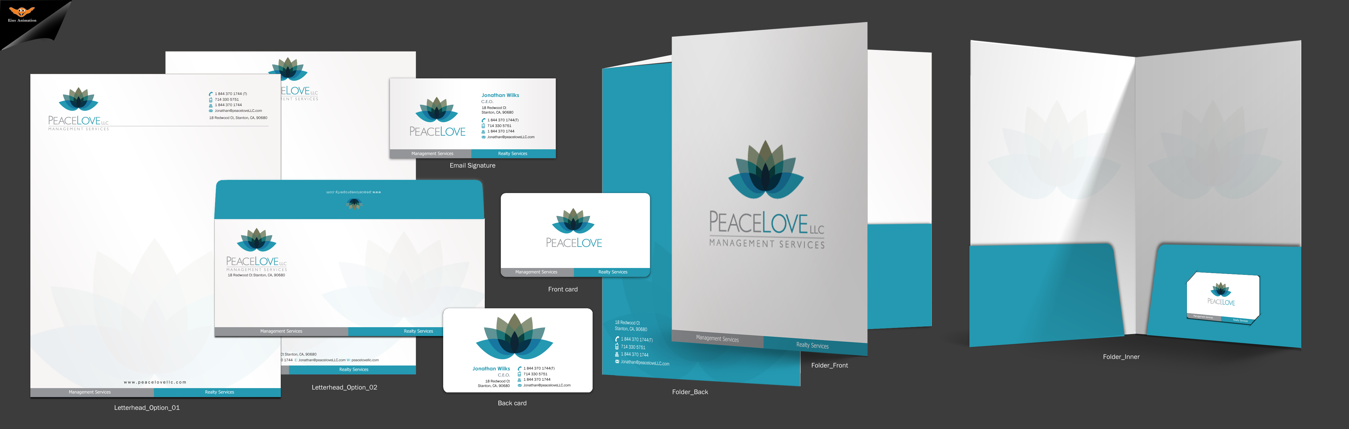 Peace Love LLC Business Cards and Stationary - Business Opportunities