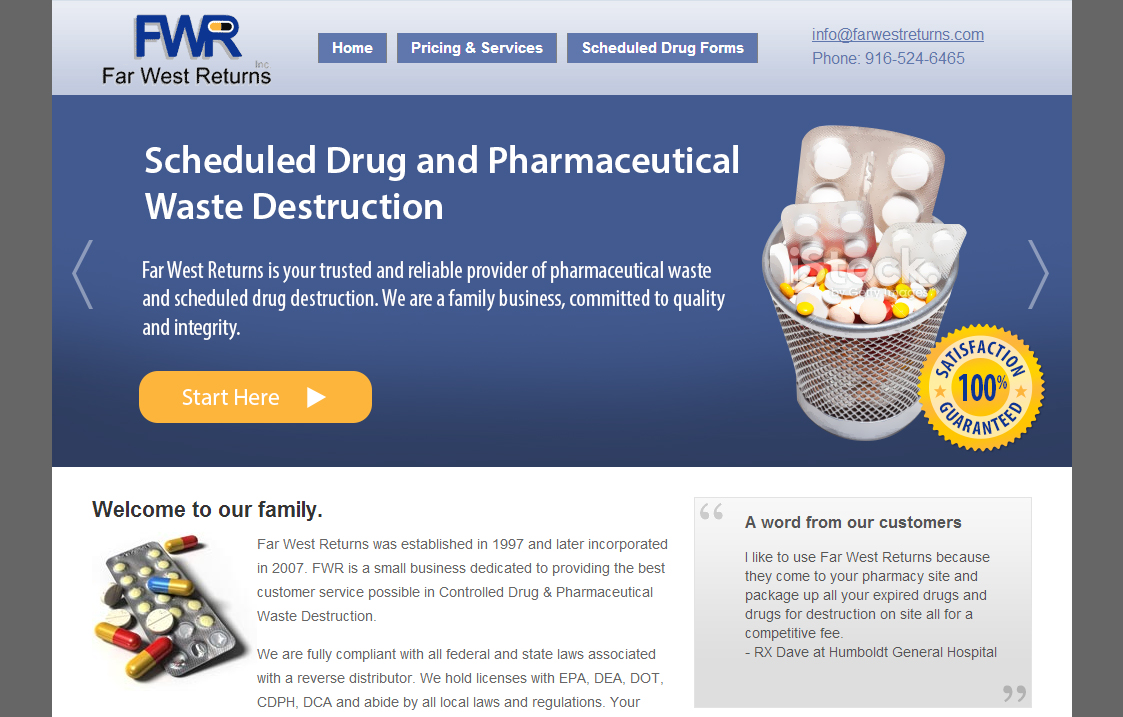 Banner for a Reverse Distributor business - Pharmacy/Pharmaceuticals