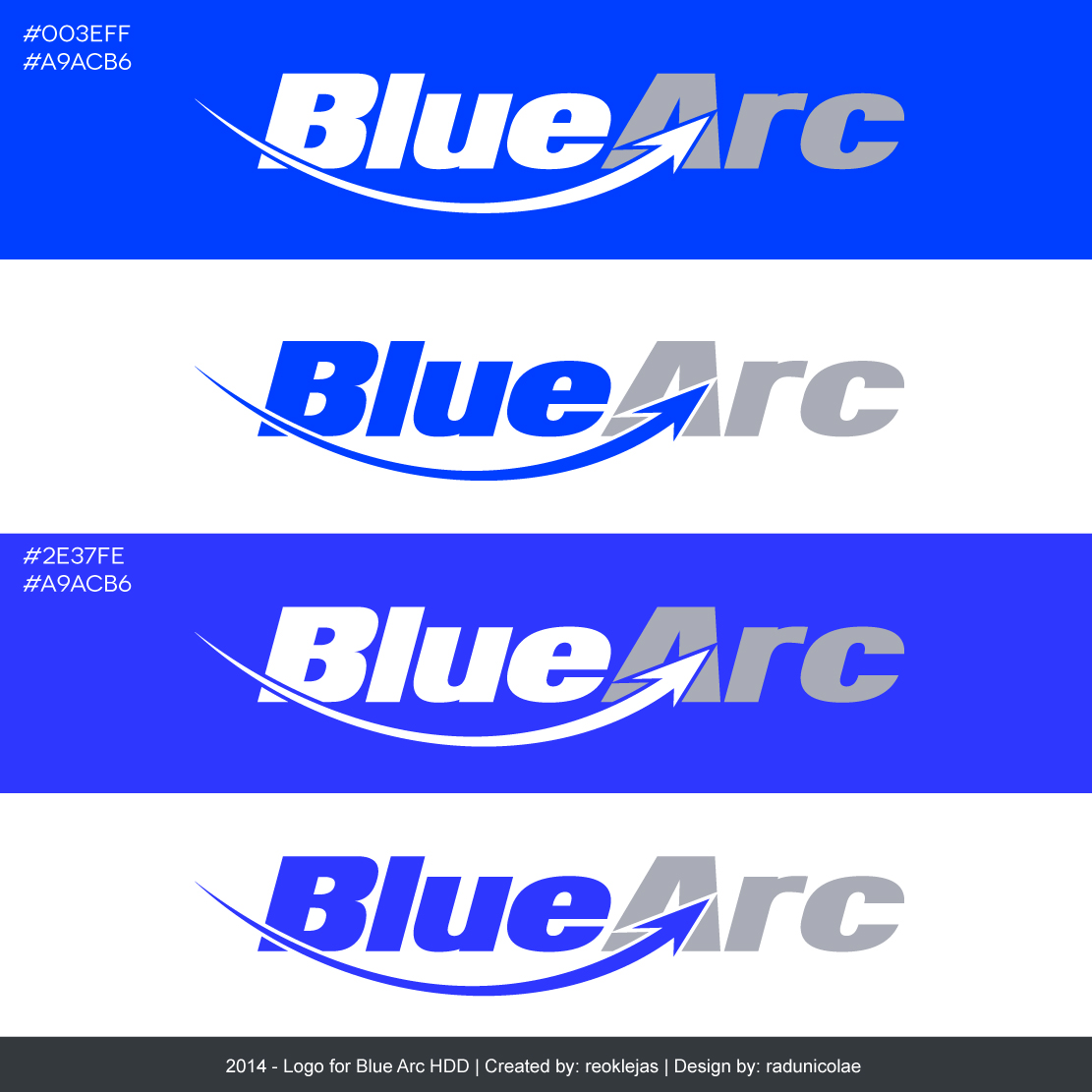 Page 1 - Blue Arc Logo for a Horizontal Directional Drilling