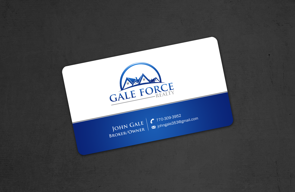 Business cards for broker of real estate brokerage company - Real Estate