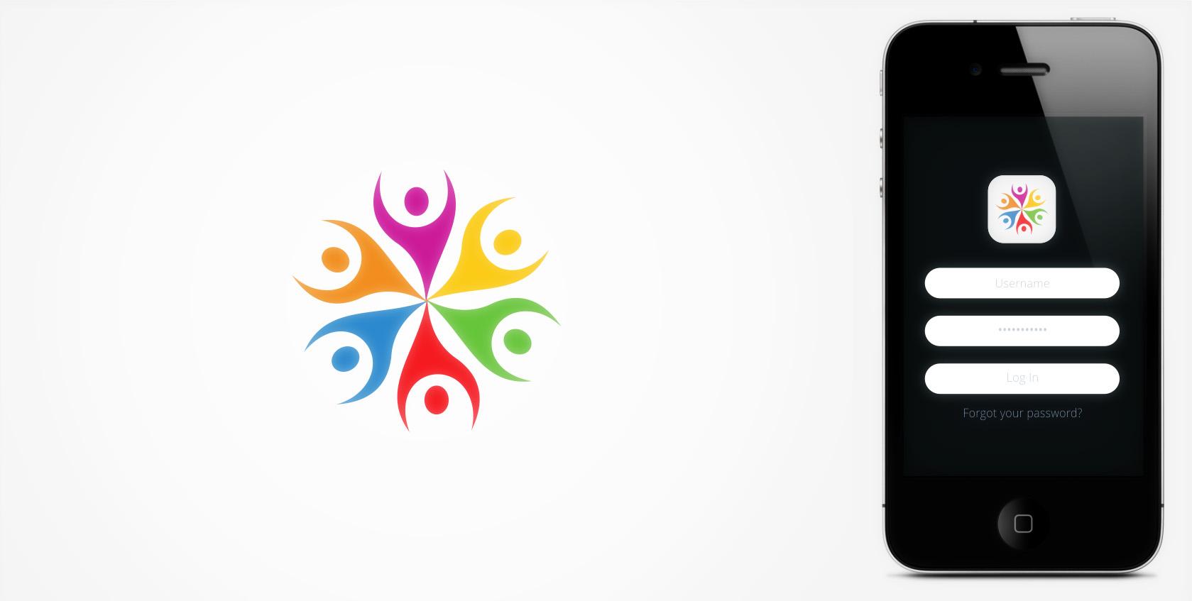 logo for a nonprofit event volunteer management platform app