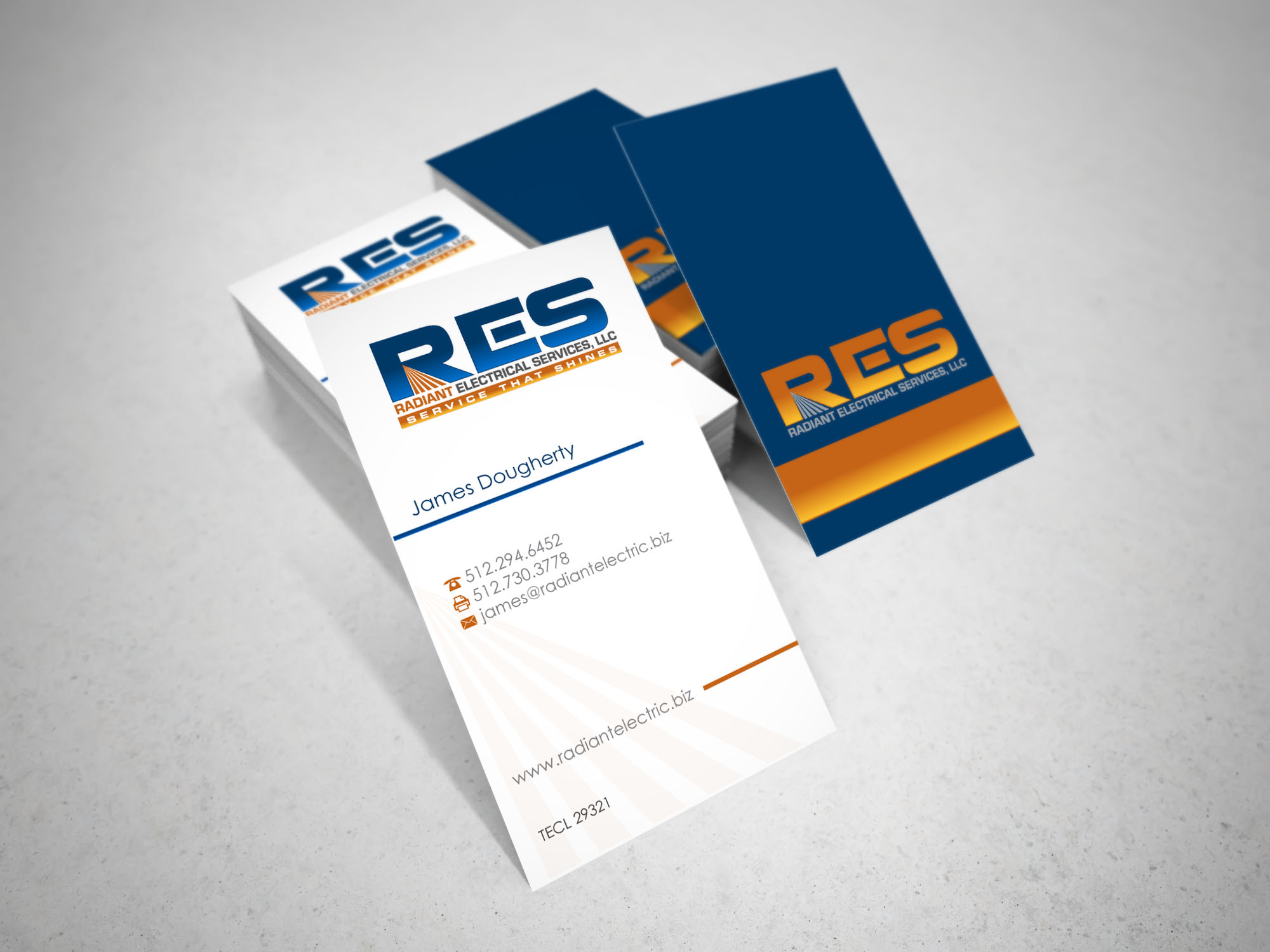 Biz Card for Electrical Contractor - Construction