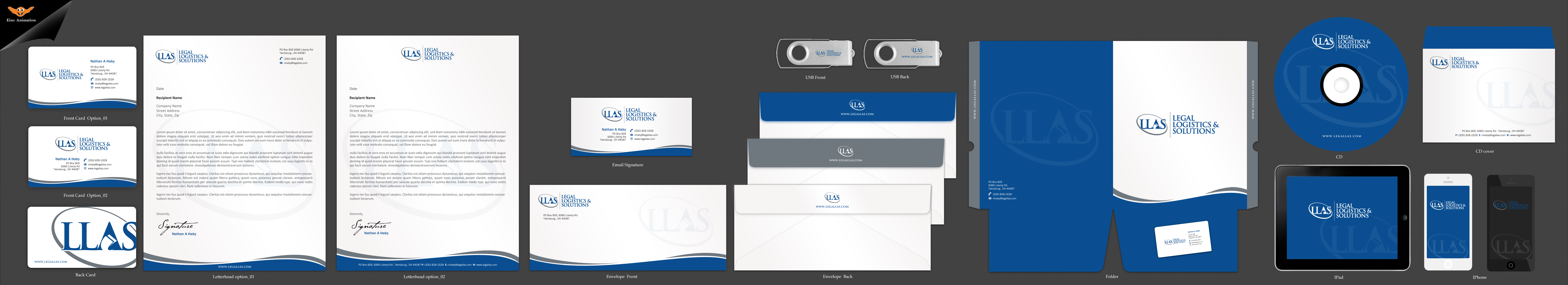 Stationary for a Legal Support Company - Marketing