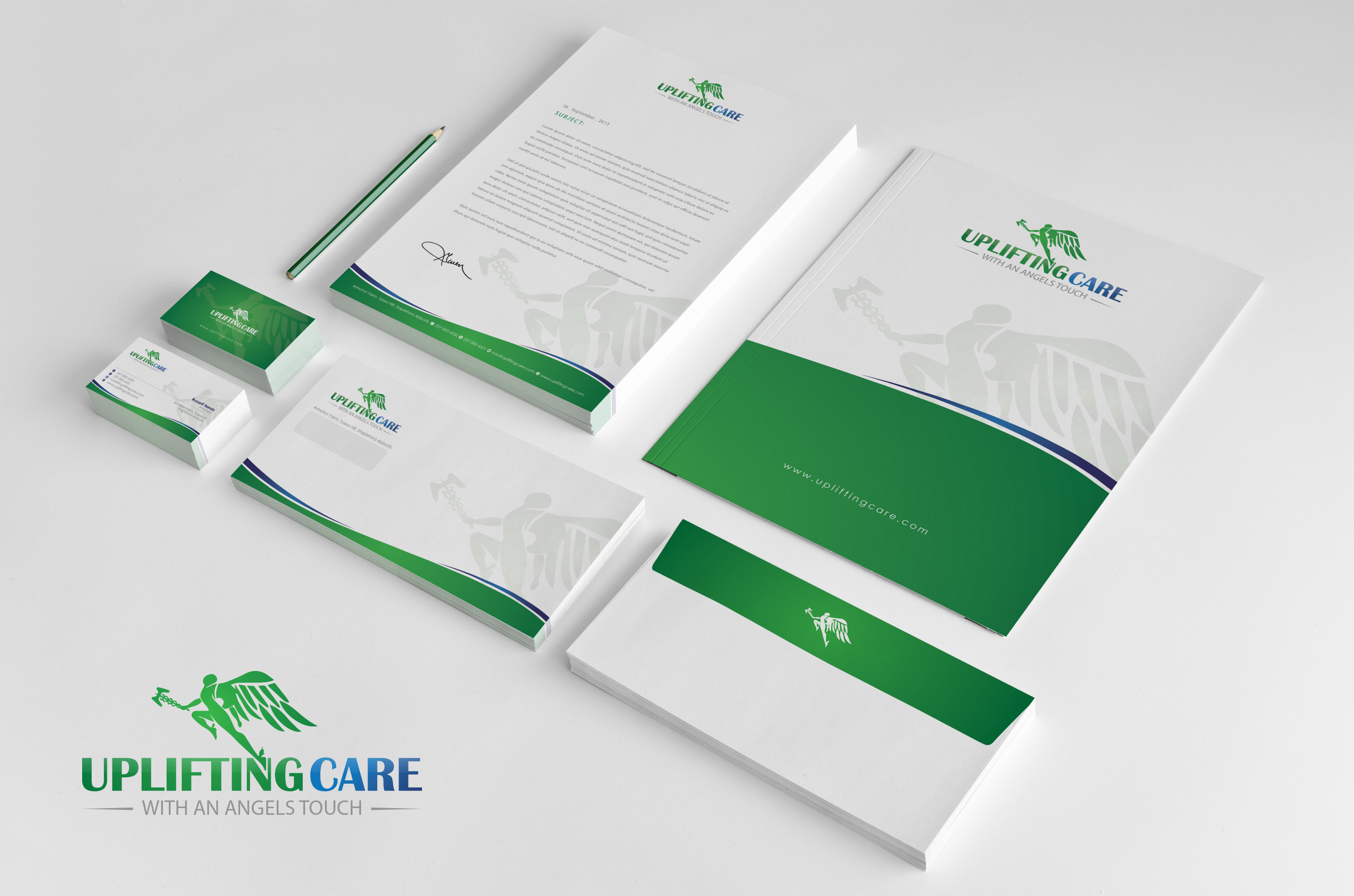 Stationary, Envelope, Folder, Brochure - Health