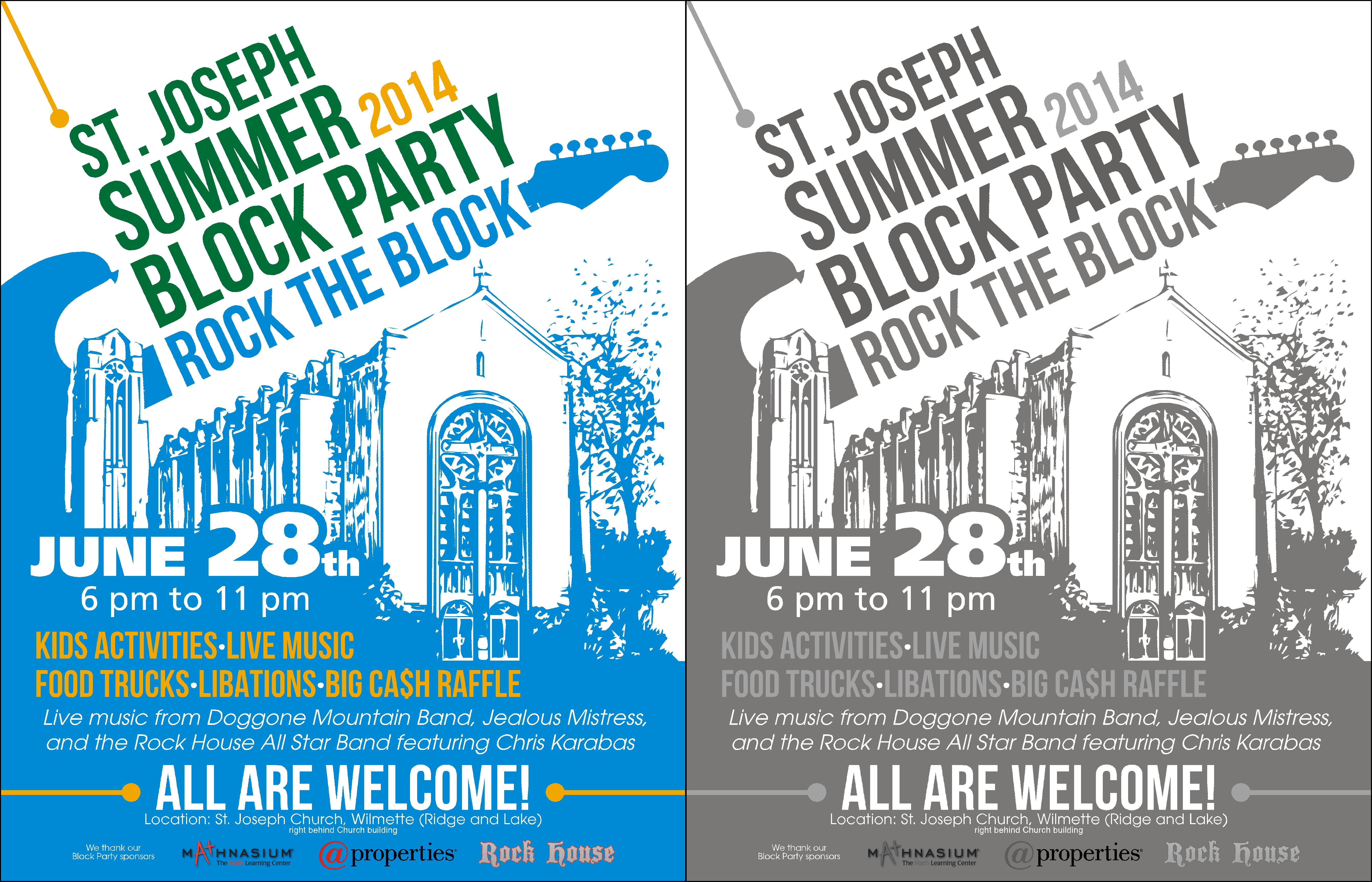 (Expedite) Poster for a Church Outdoor Block Party - Religion and Spirituality