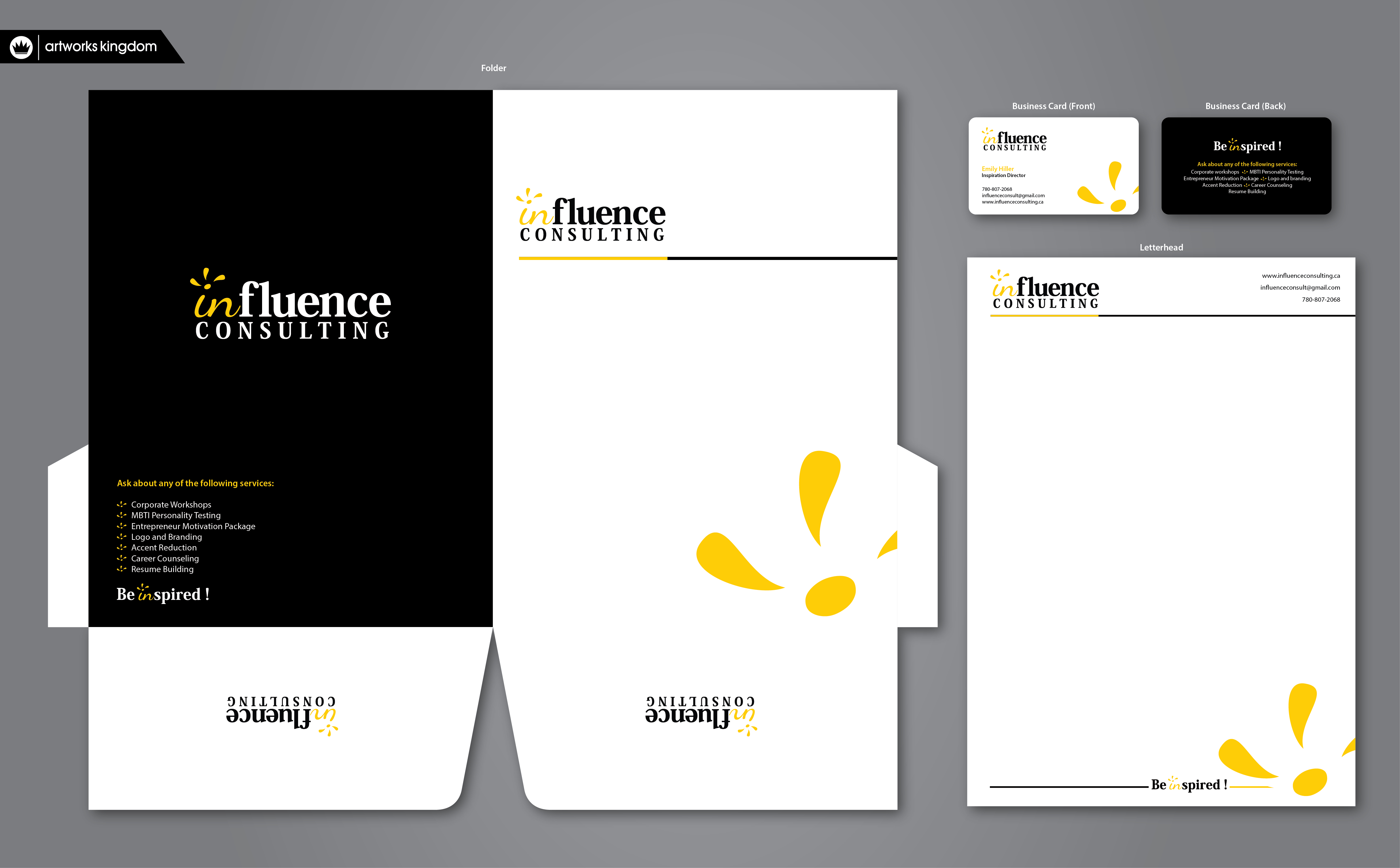 Letterhead design for Marketing Company - Consulting