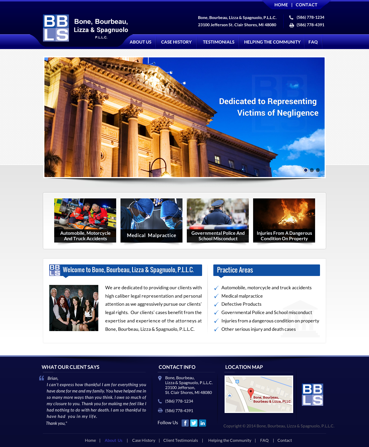 BBLS Law Firm Website - Law