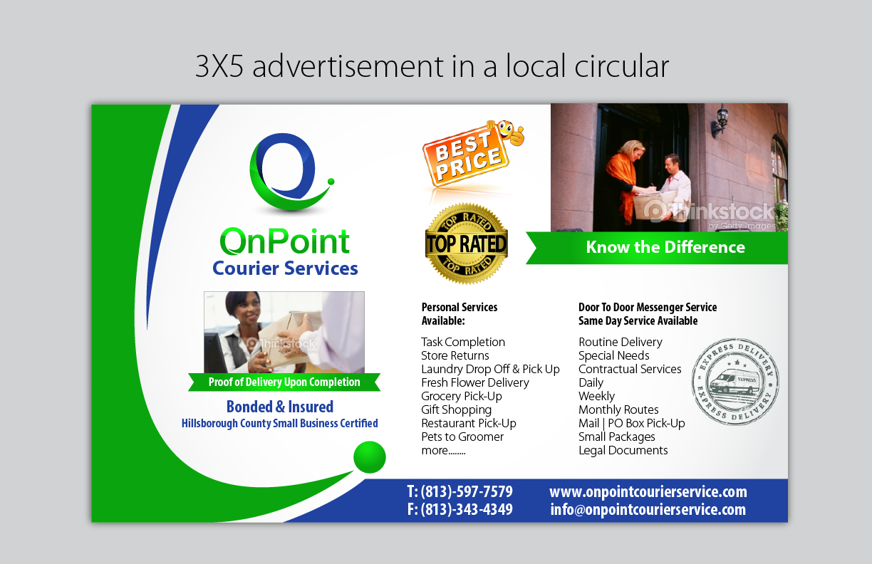 (Expedite) Advertisement OnPoint - Corporate Services