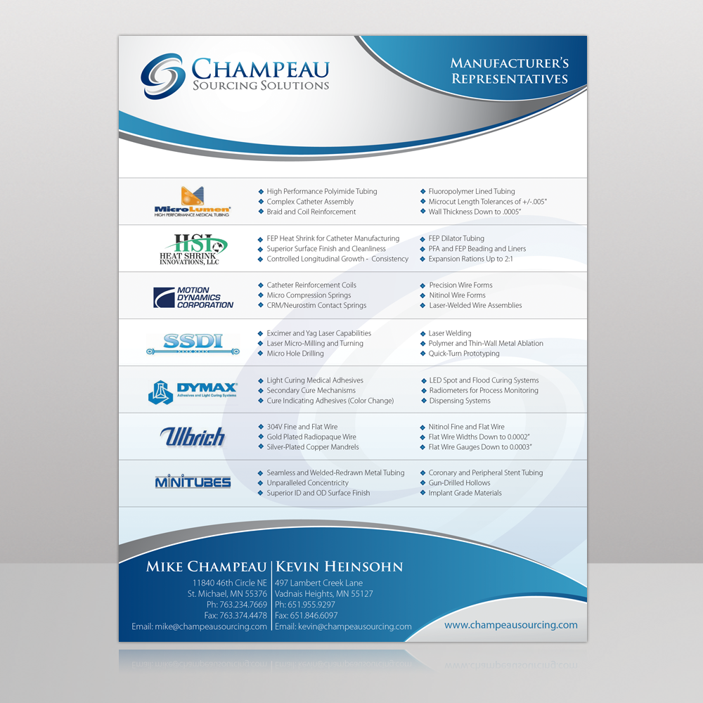 Champeau Sourcing Line Card - Medical
