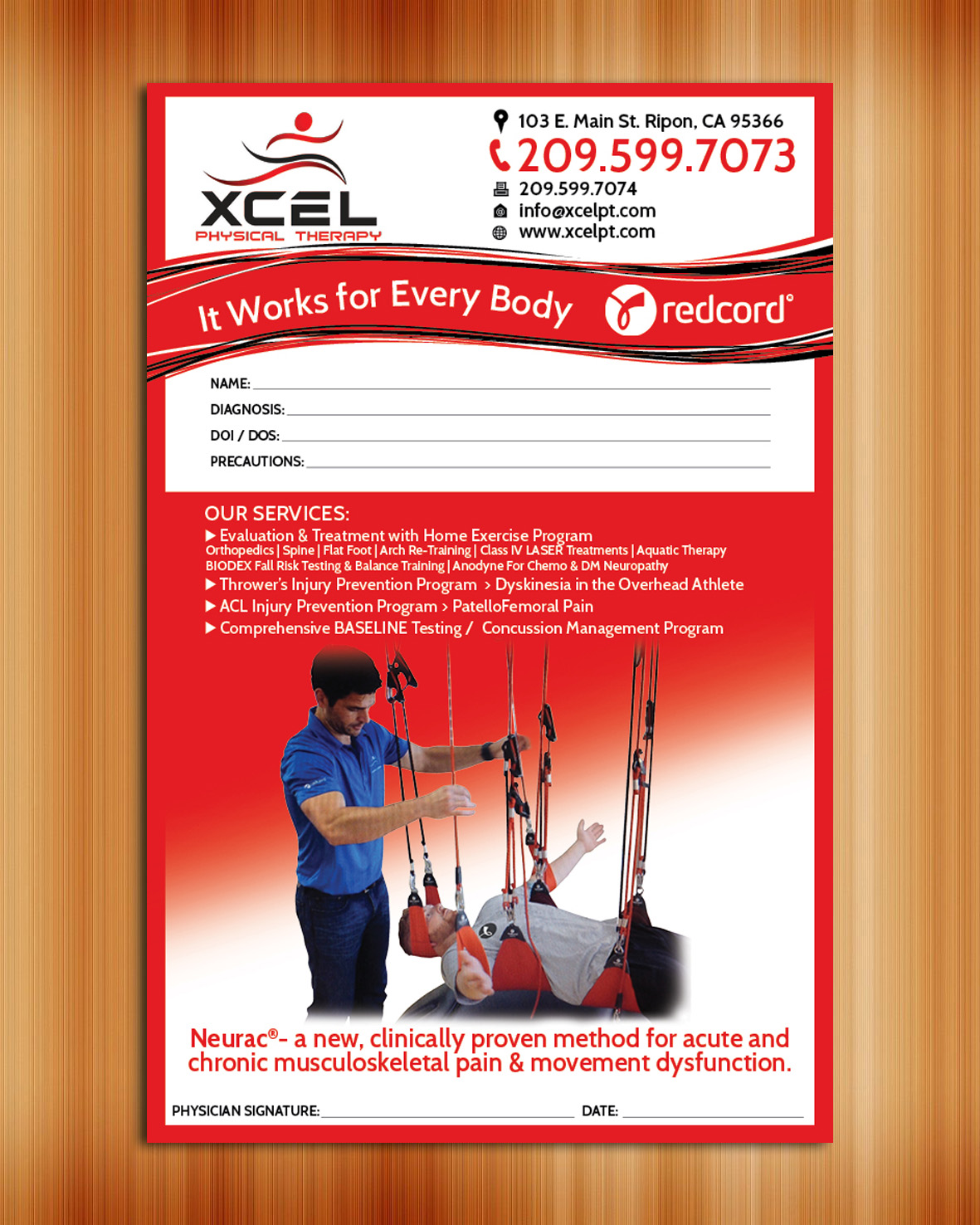 Referral Pad for XCEL Physical Therapy - Medical