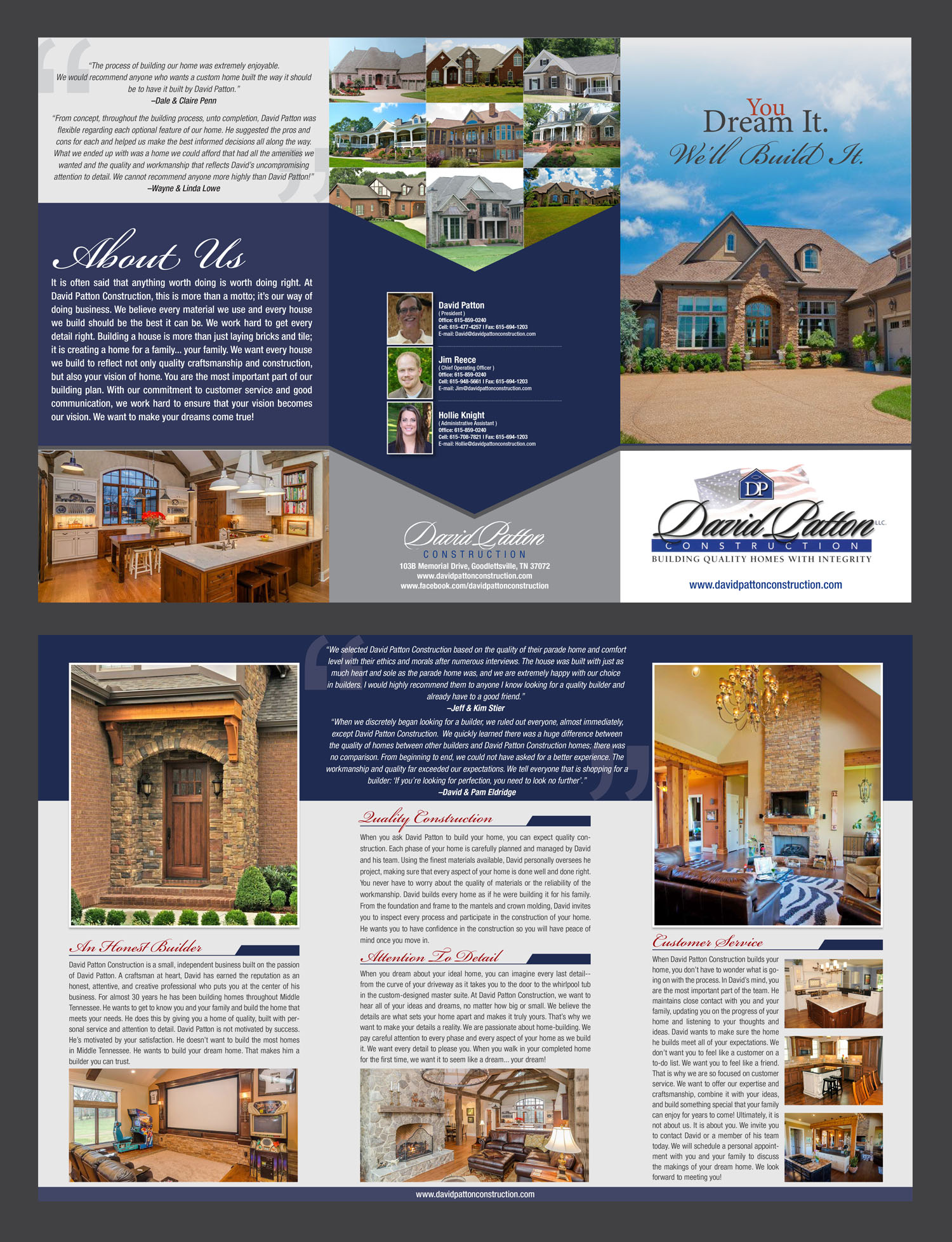 Custom Home Builder Brochure - Construction