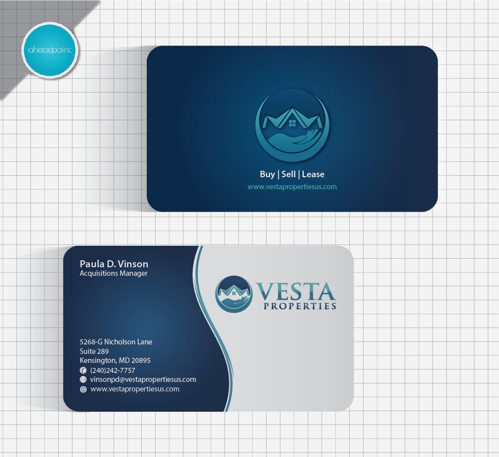 Business Card, Envelope and Letterhead for Real Estate Investing Company - Real Estate