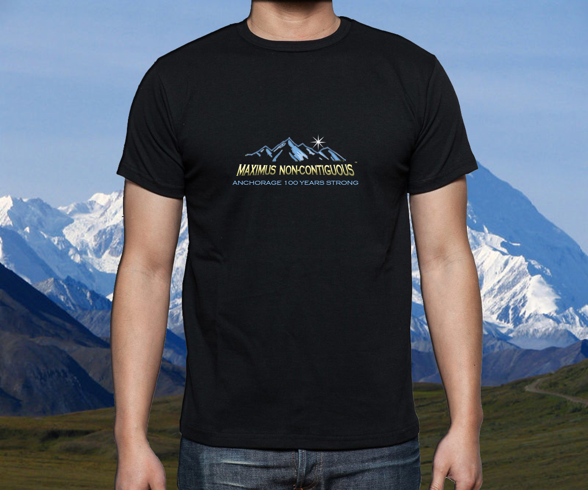 MAXIMUS NON-CONTIGUOUS:  Modern, Edgy Design For An Alaskan T-Shirt - Apparel