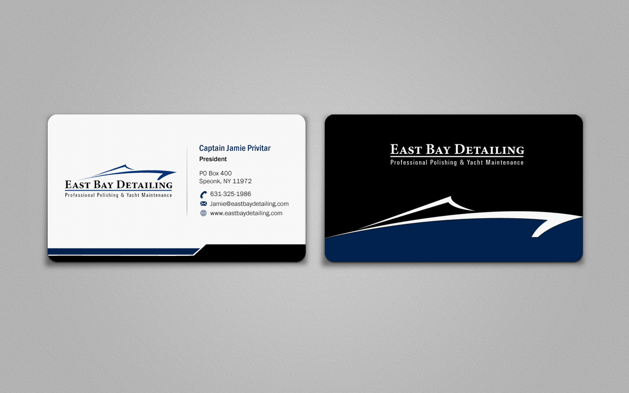 Fresh & clean business card for yacht detailing company - Cleaning