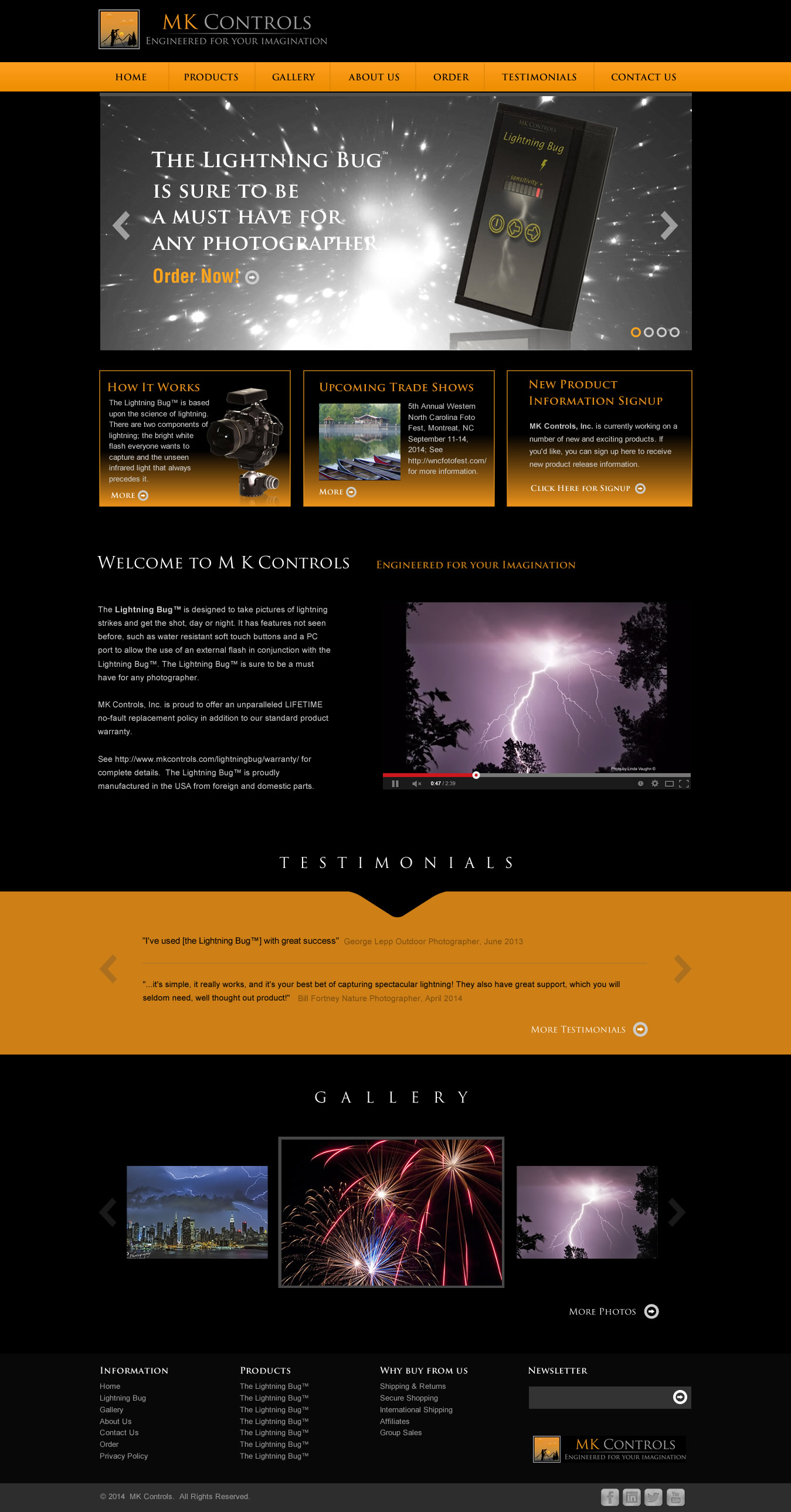 Web template for a photography gadget compamy - Photography