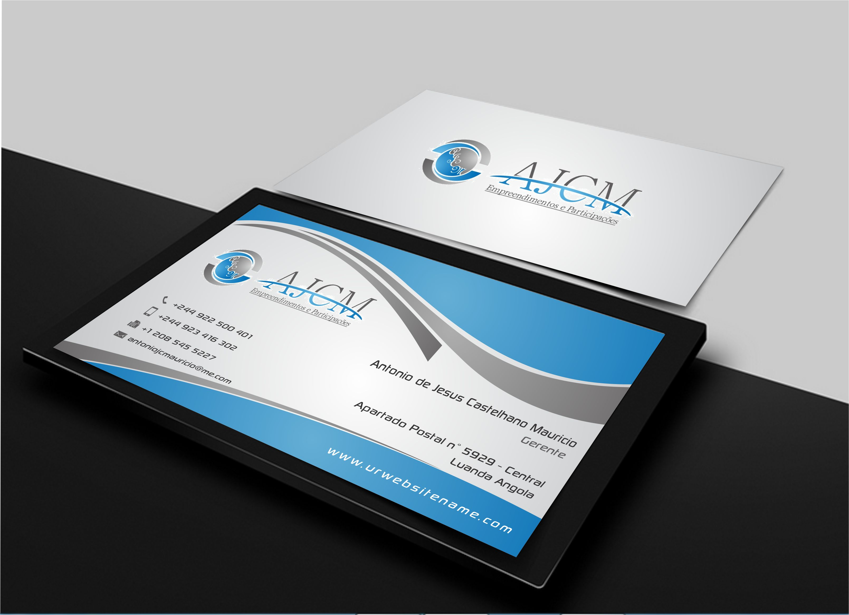 Business cards for AJCM - Empreendimentos e Participações - Business Opportunities