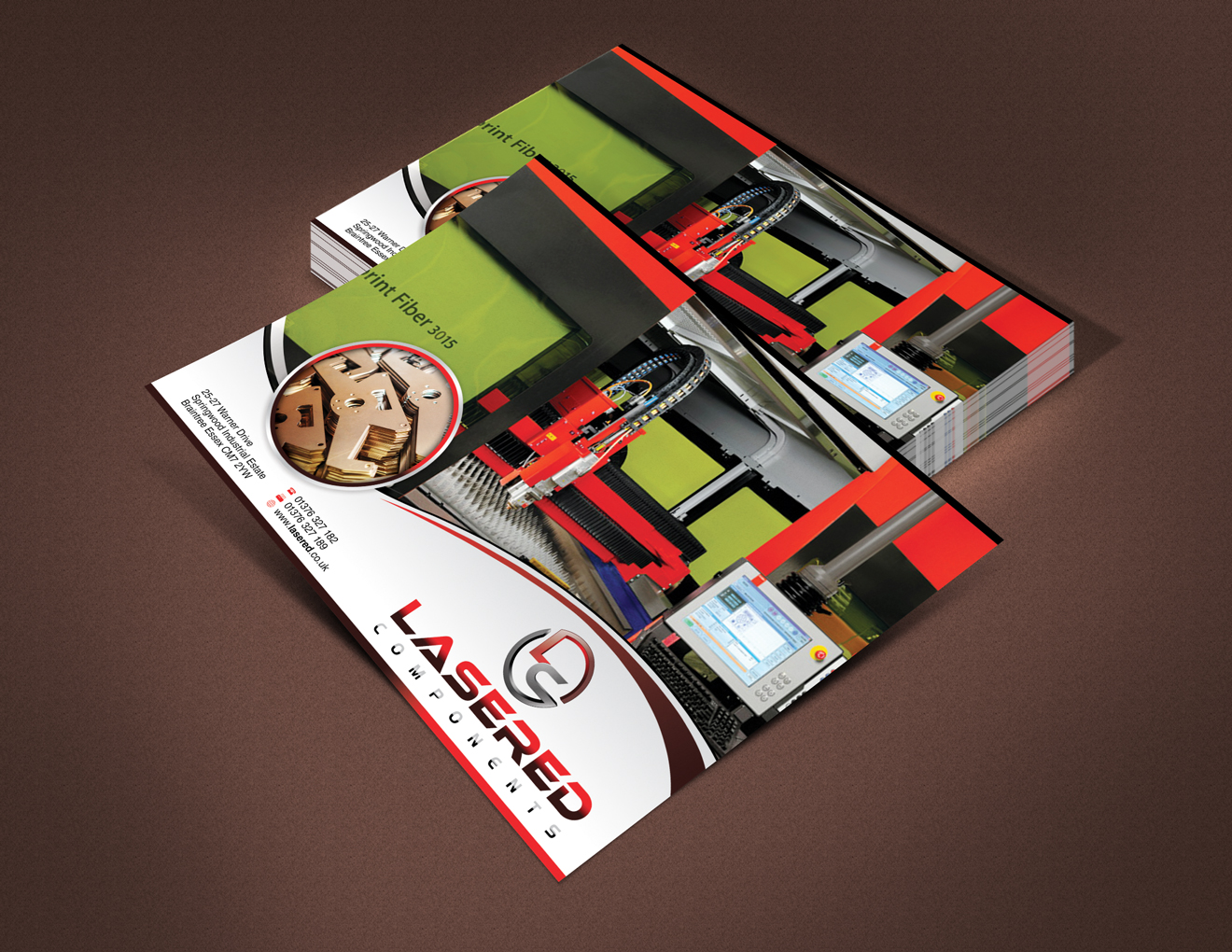 A5 Flyer for Laser Cutting Company - Manufacturing