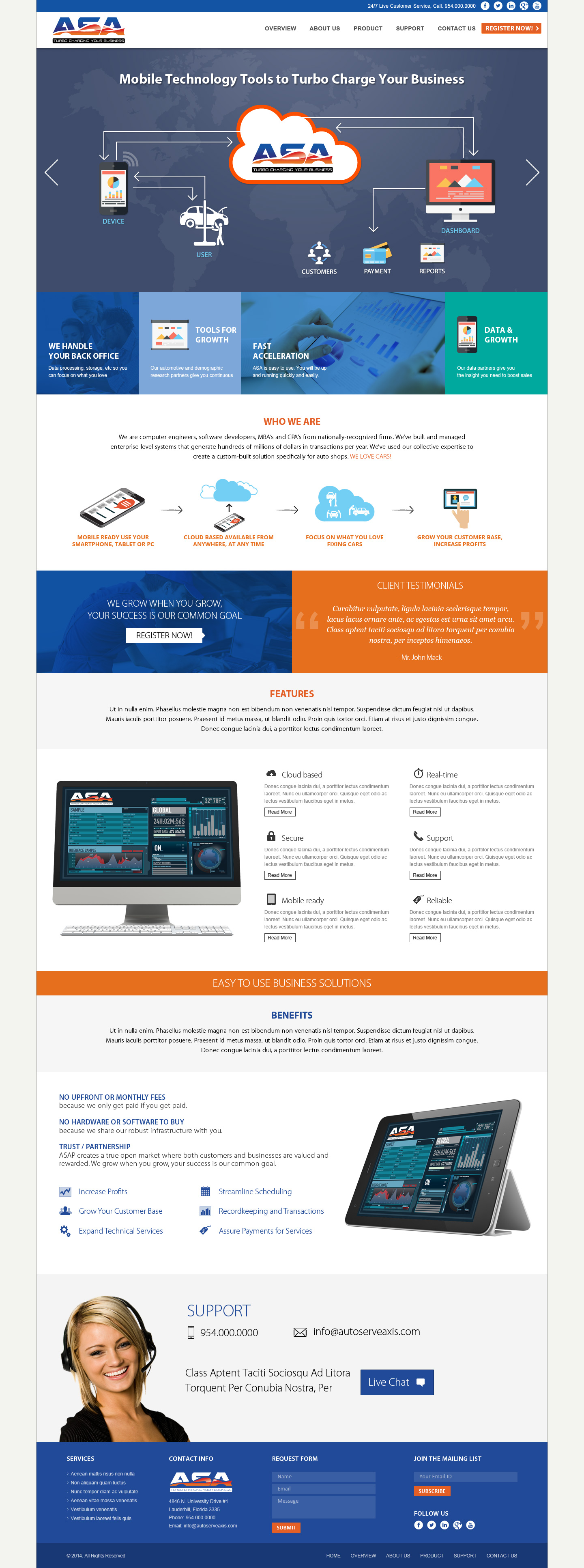 ASA Marketing site - Software
