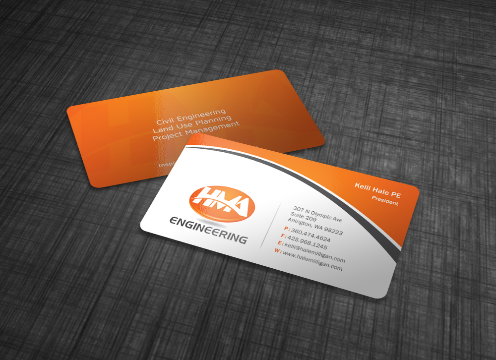 Clean Business Card for Engineering Firm - Engineering