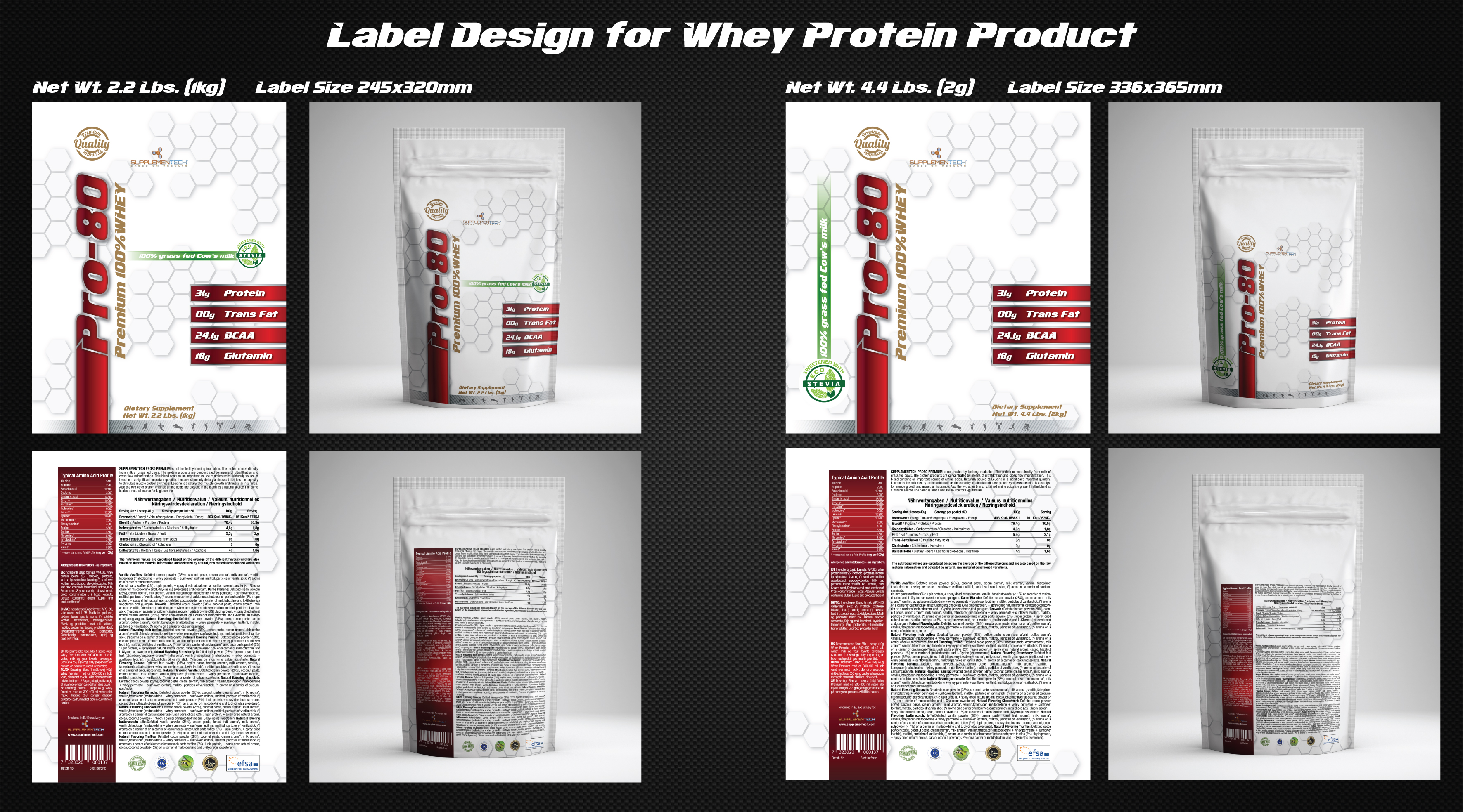 lable design for whey protein - Agriculture