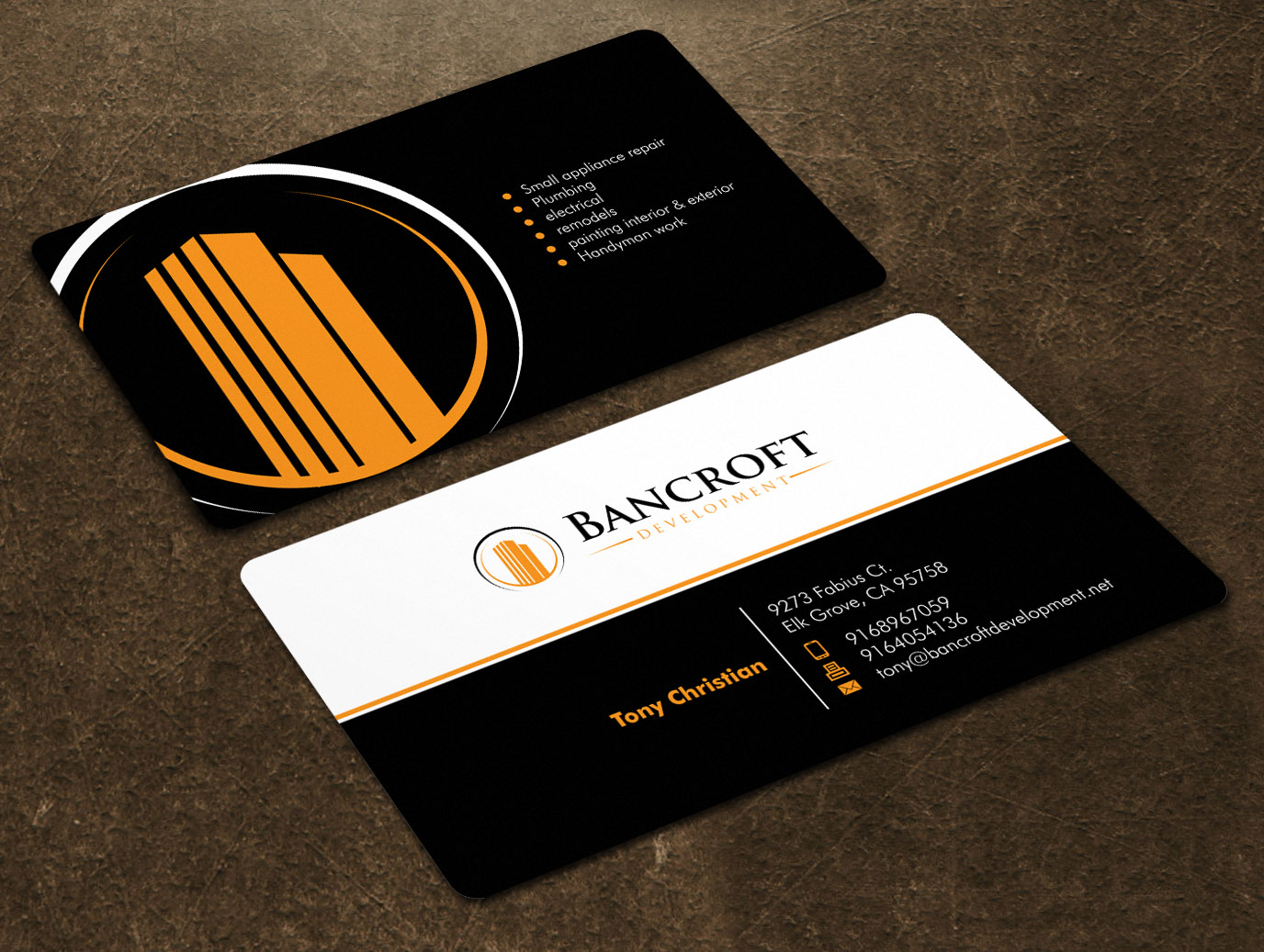 Business Cards for Commercial Maintenance / general contractor - Construction