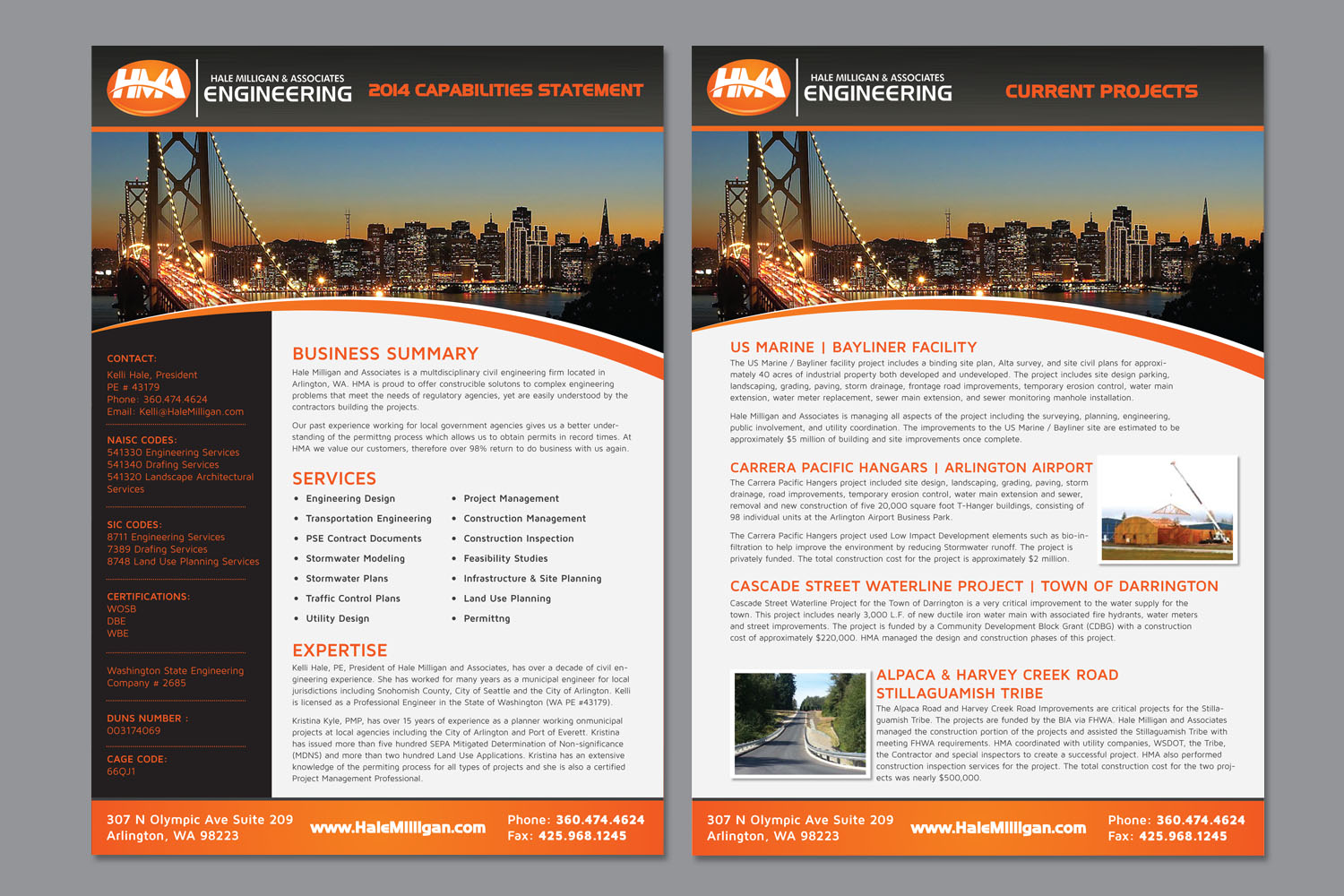 Double Sided Brochure Highlighting Business Codes and  - Engineering