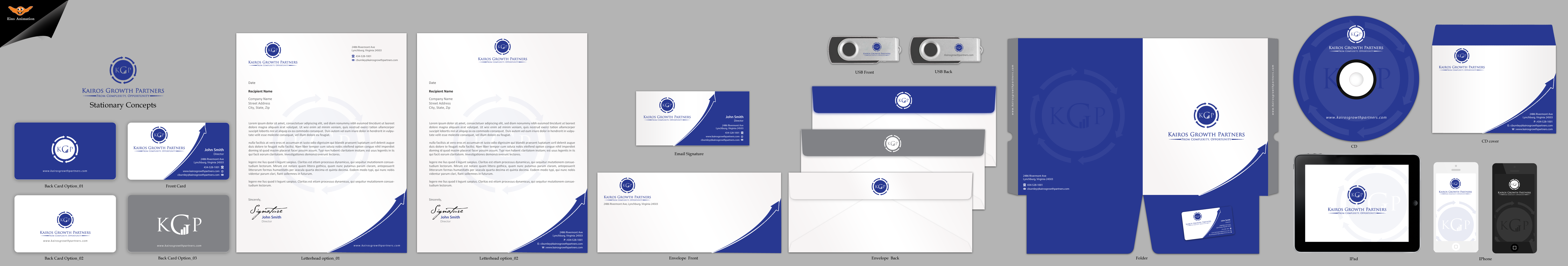 Kairos Growth Partners Business Cards, Stationary and Envelops - Business Opportunities