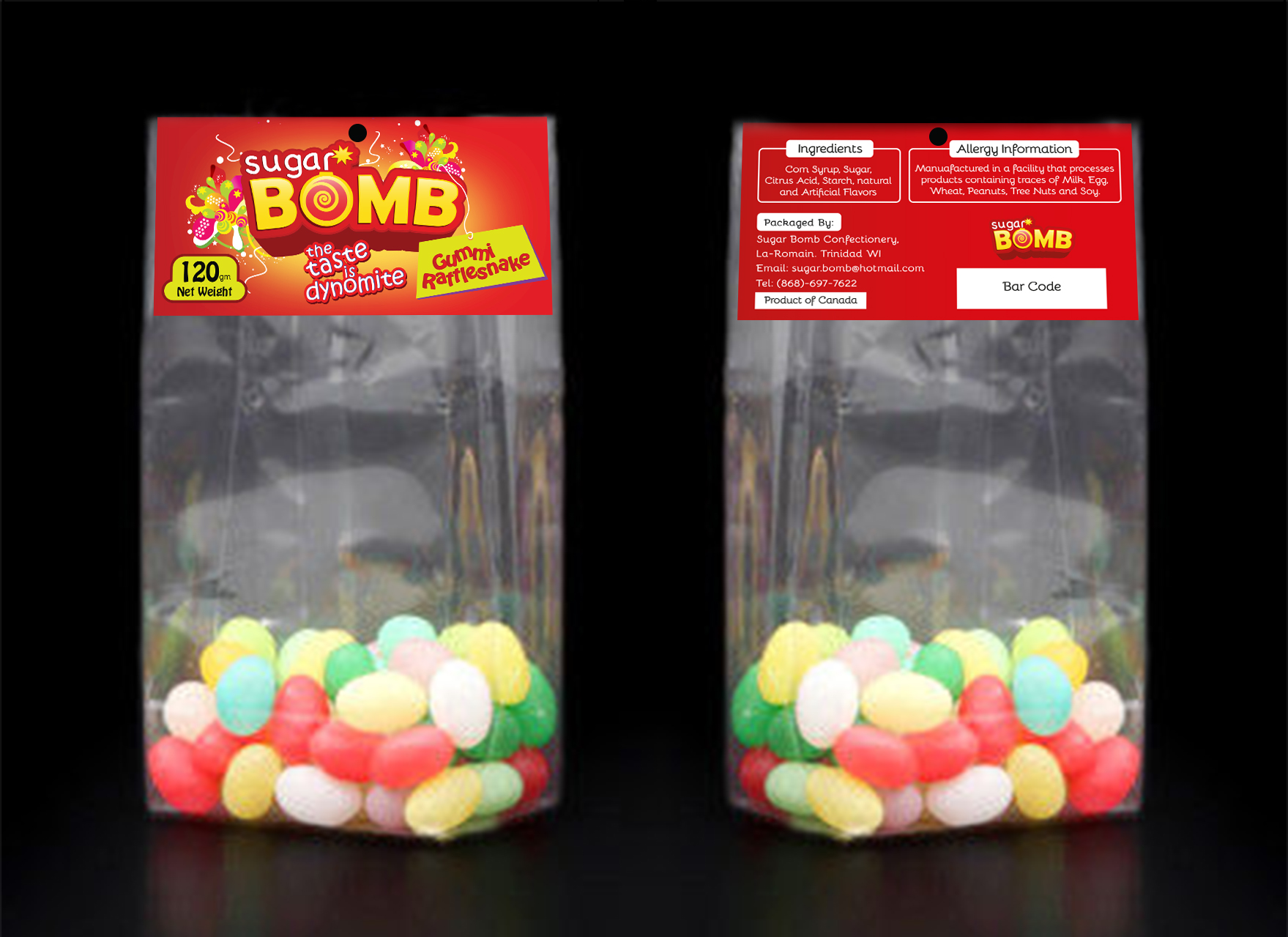 Design of a Label for a Candy Company - Food