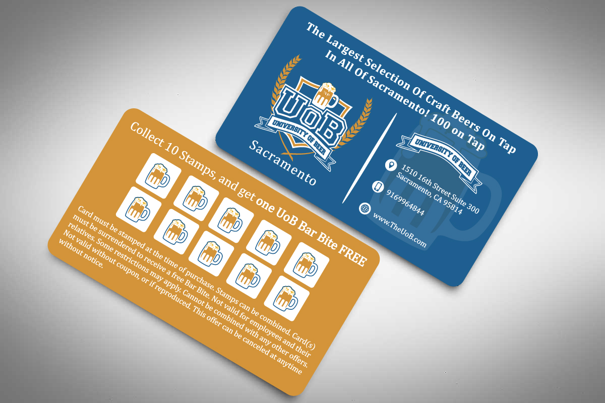 University of Beer Business Card/Stamp card - Food