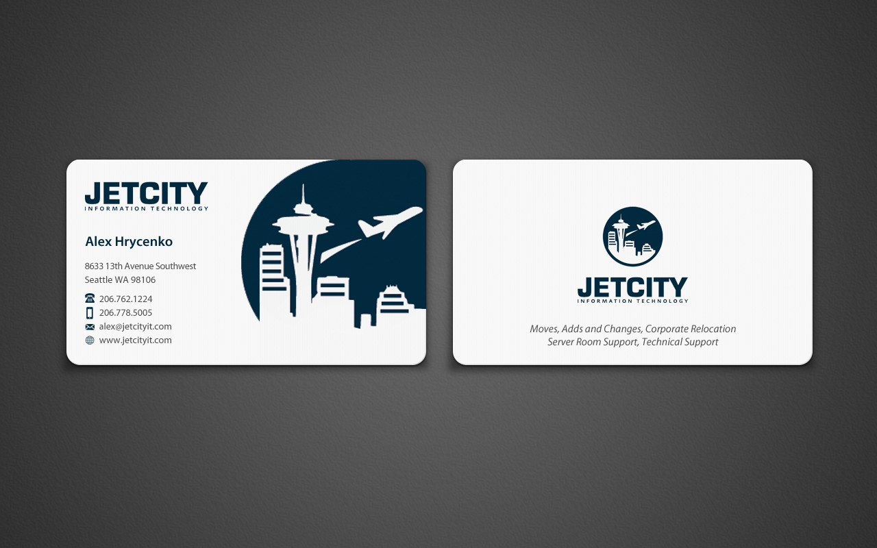 Jet City Information Technology Business Card - Information Technology