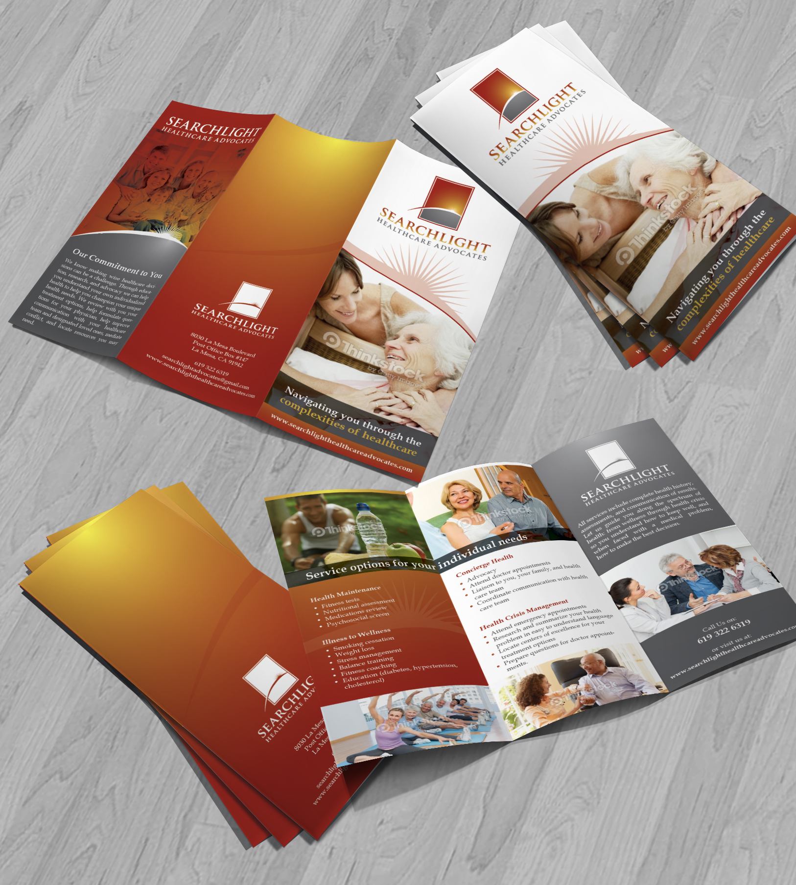 brochure for healthcare advocacy company - Health