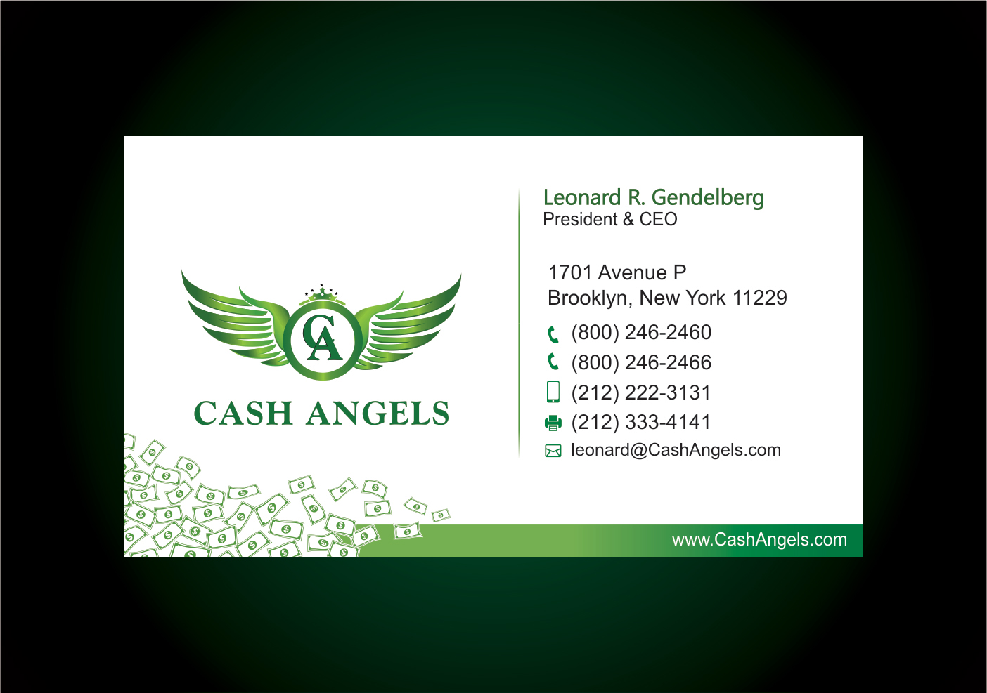 Business Card Design for Financial Services Company - Financial Services