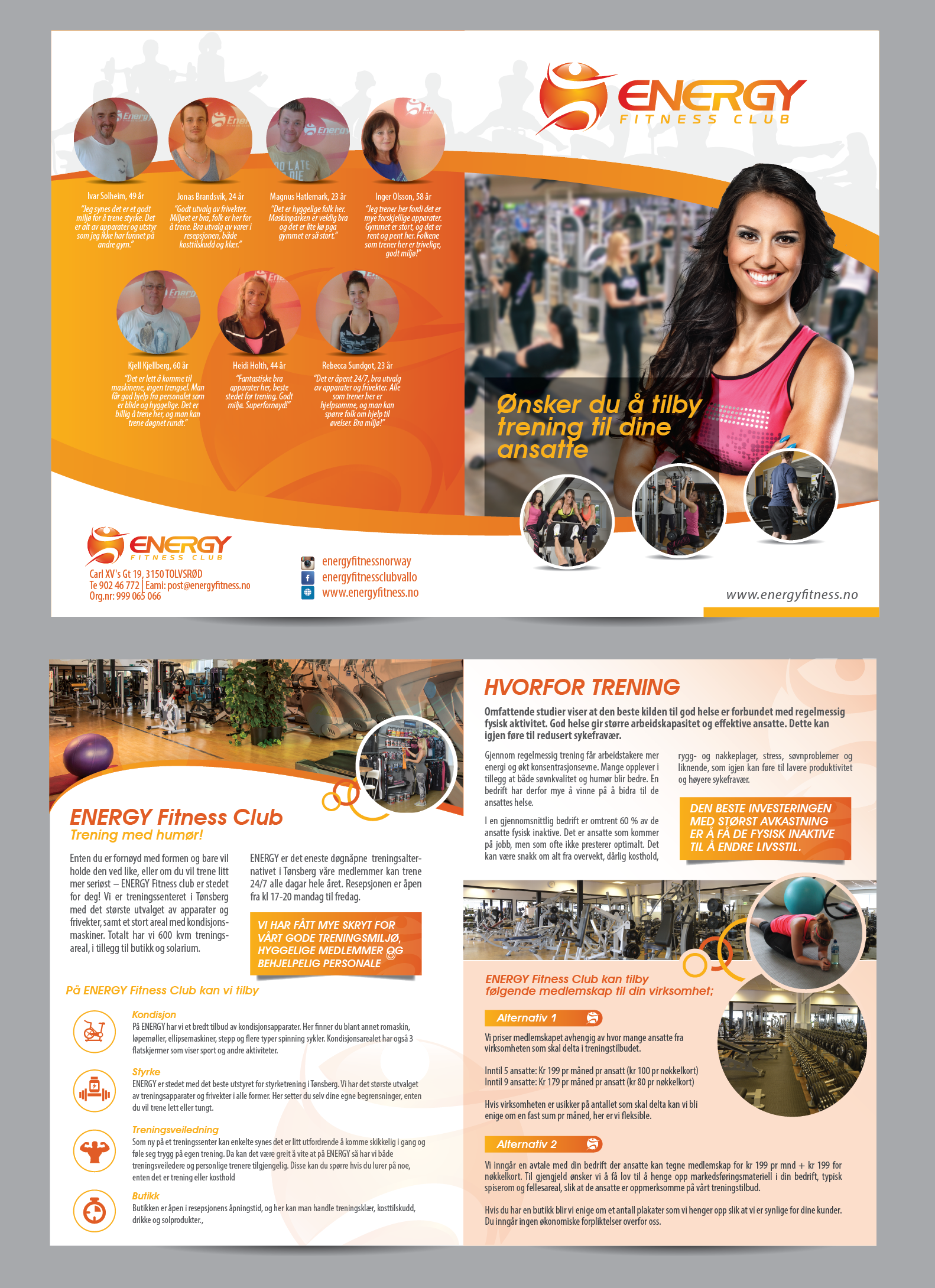 Brochure for a gym - Sports