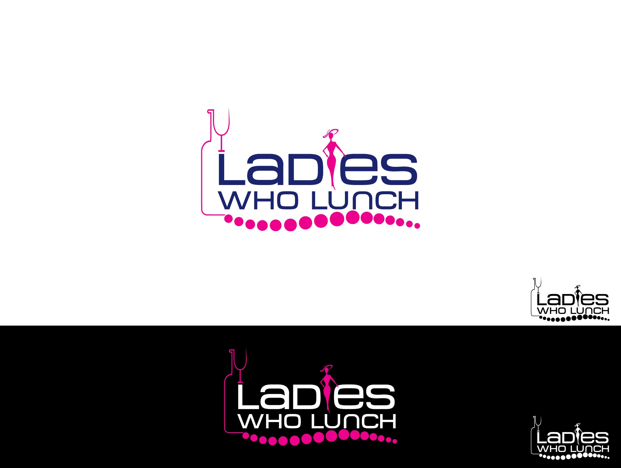 Ladies Who Lunch - Transportation Logo