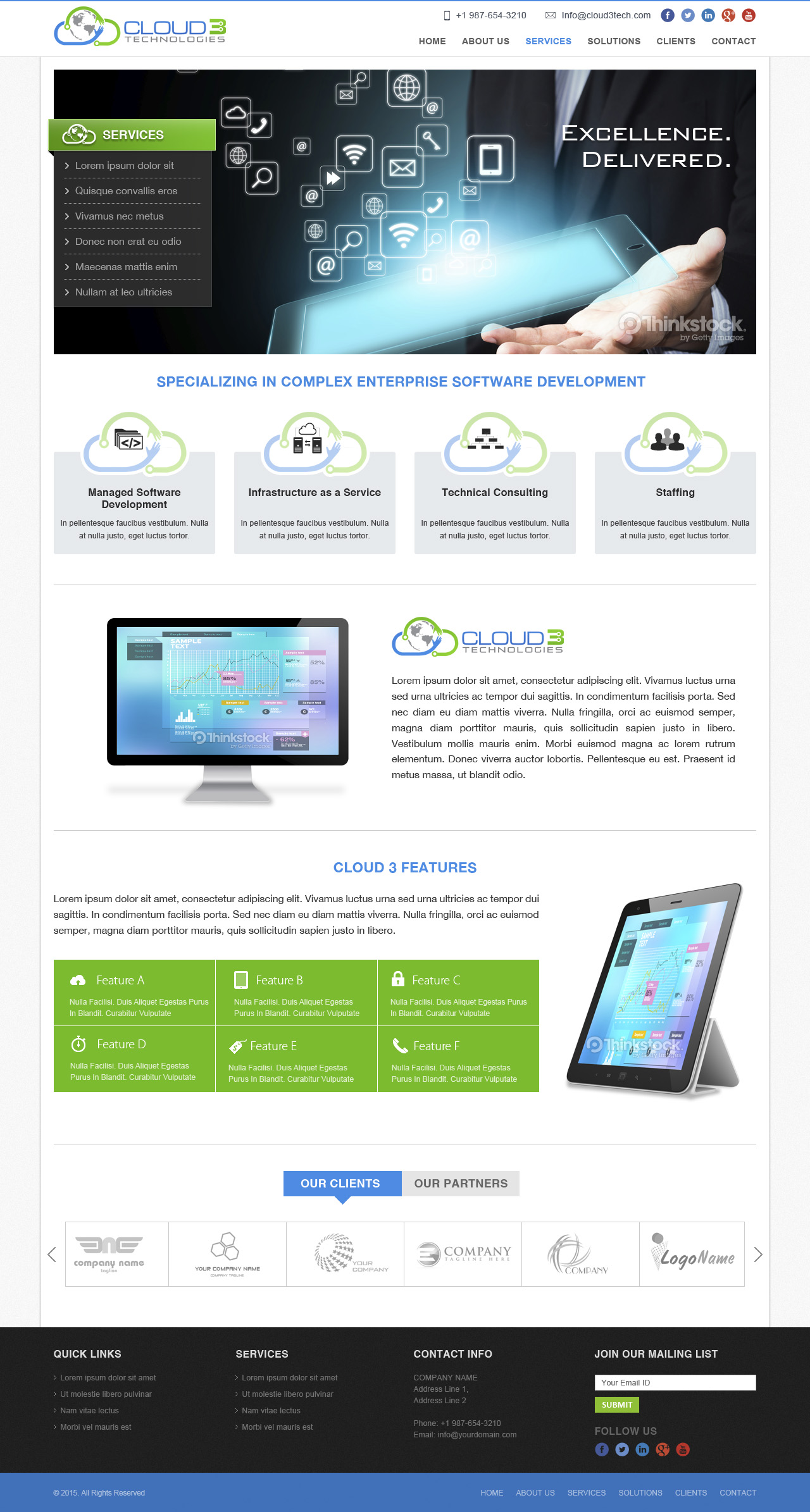 Website design for Tech company - Information Technology