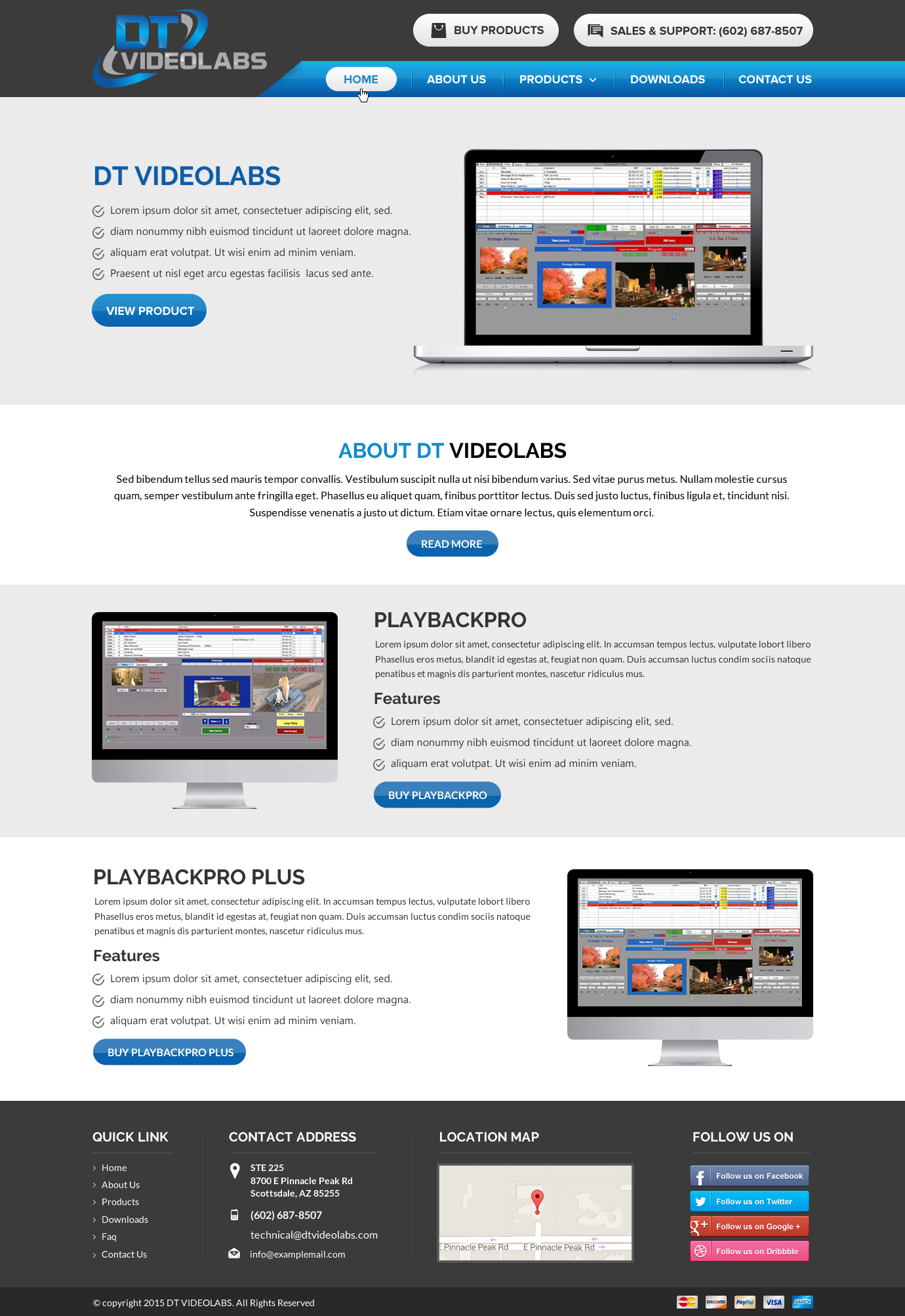 Modernize Website and add index page - Software