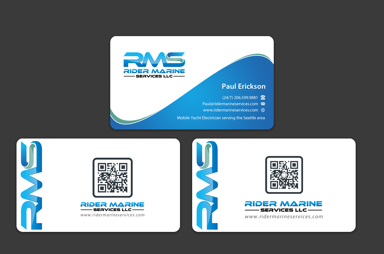 Business Card for Yacht Electrician - Construction