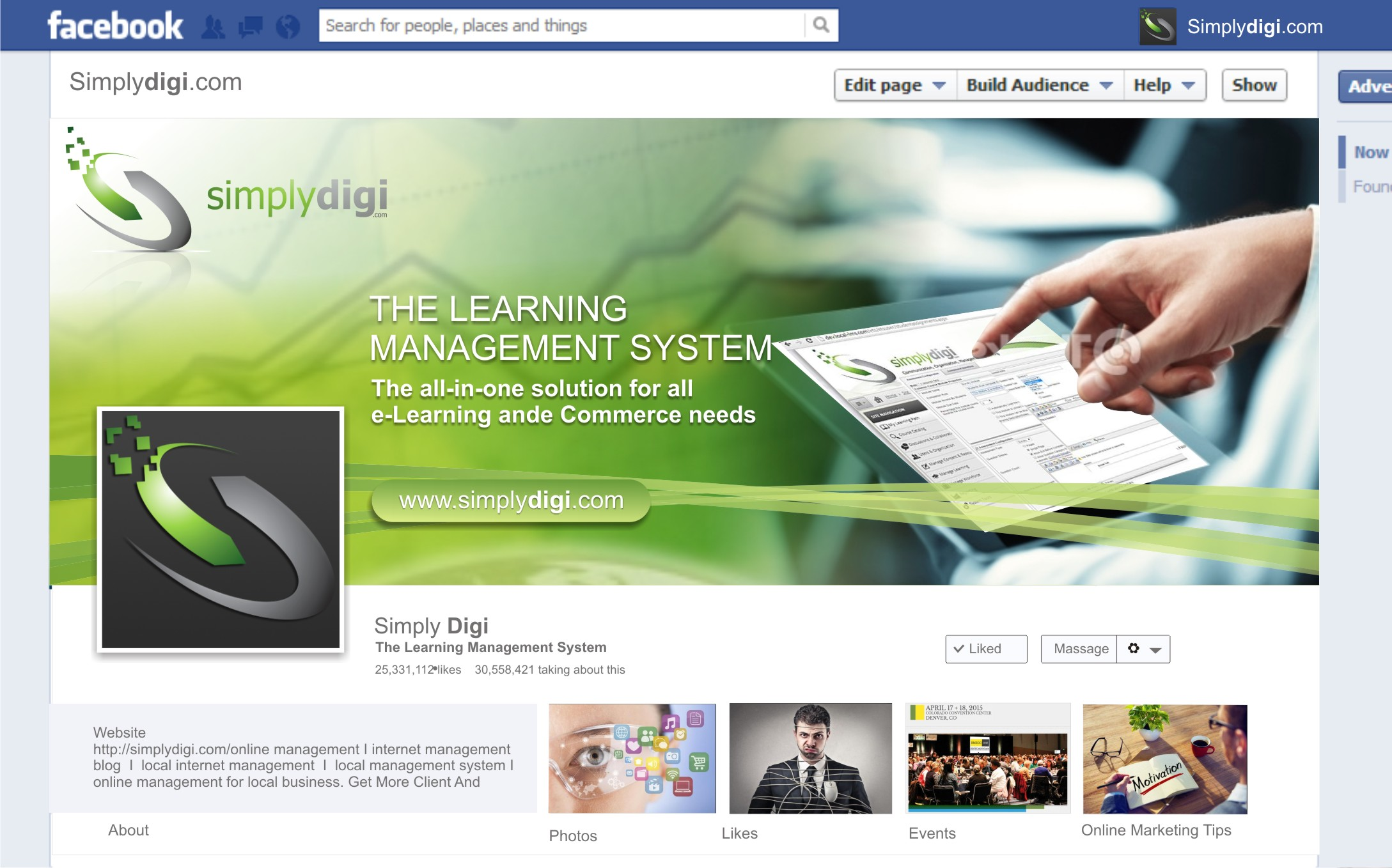New Facebook Page Page Header Image and Logo Image - Education