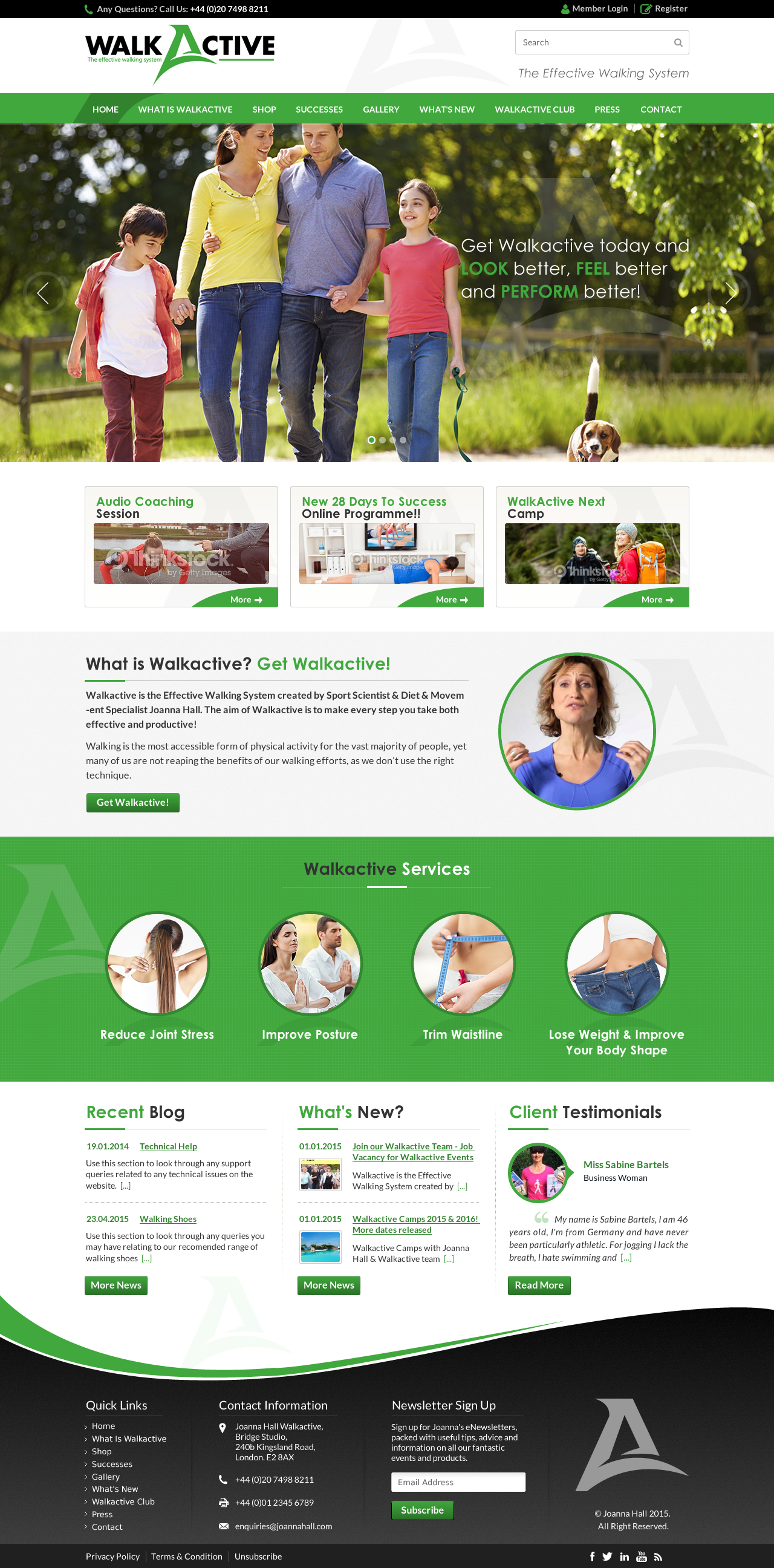 Website Design for a Walking/Fitness Company - Health