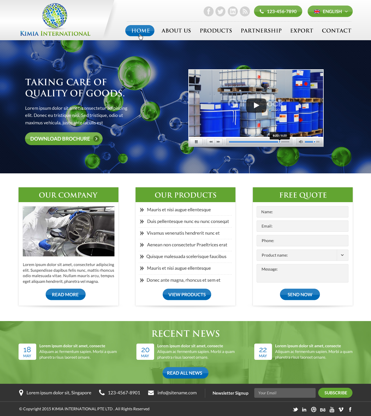 Web Design for a Chemical Trading Company - Trade