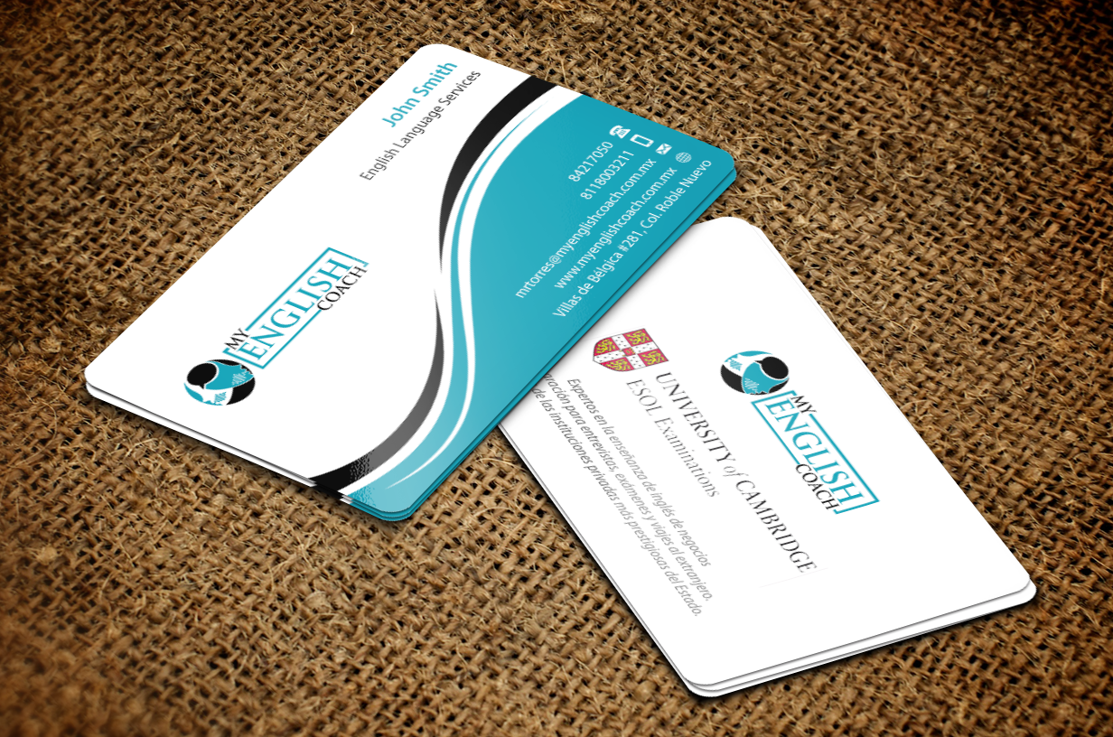 Business cards for an English Teaching (coaching) company - Education