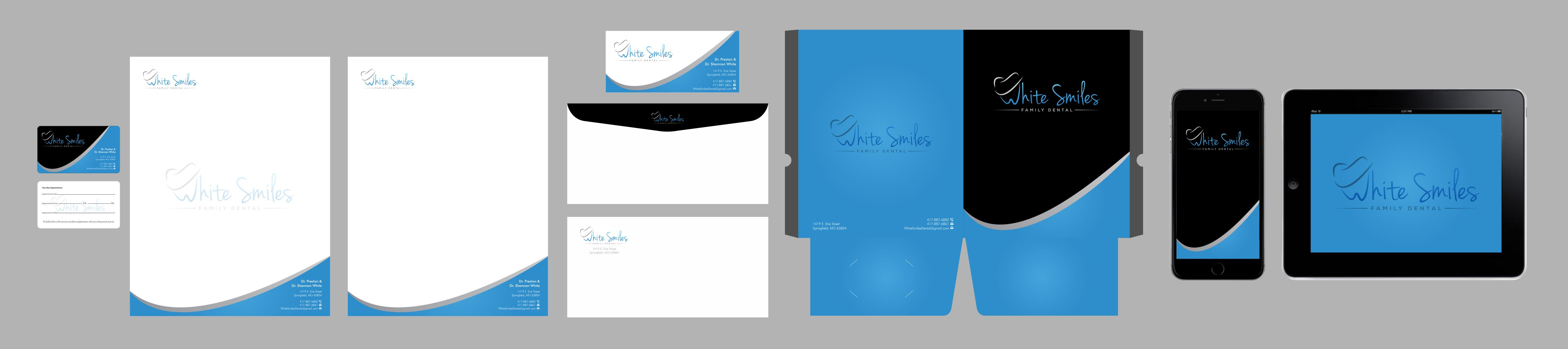 Business card, envelope and letterhead for dental office  - Medical
