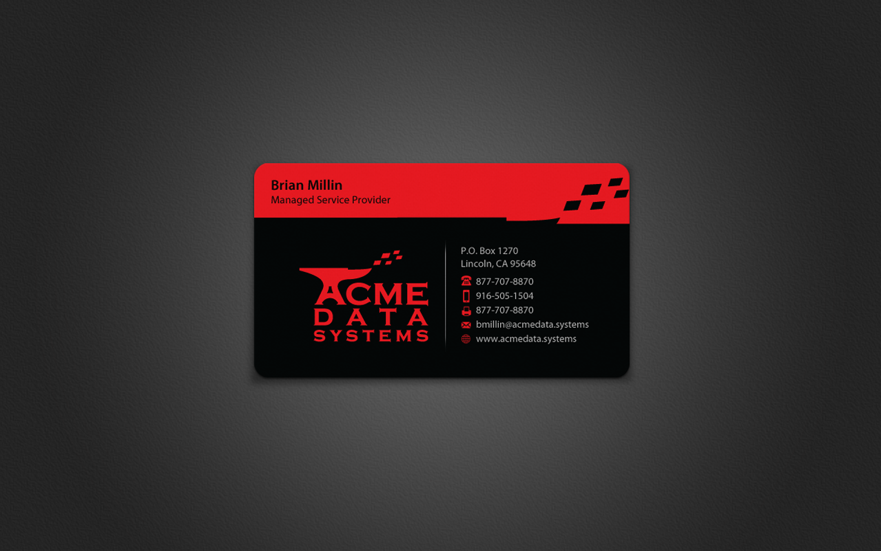 Business Card - Information Technology