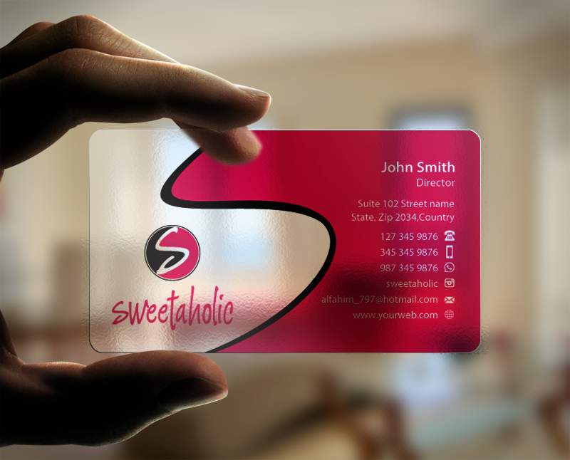 Business card for sweet shop - Food
